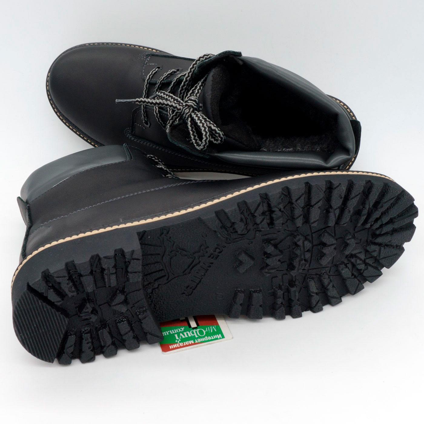 фото bottom Черные мужские ботинки Реплика Timberland 103 (Тимберленд)  bottom