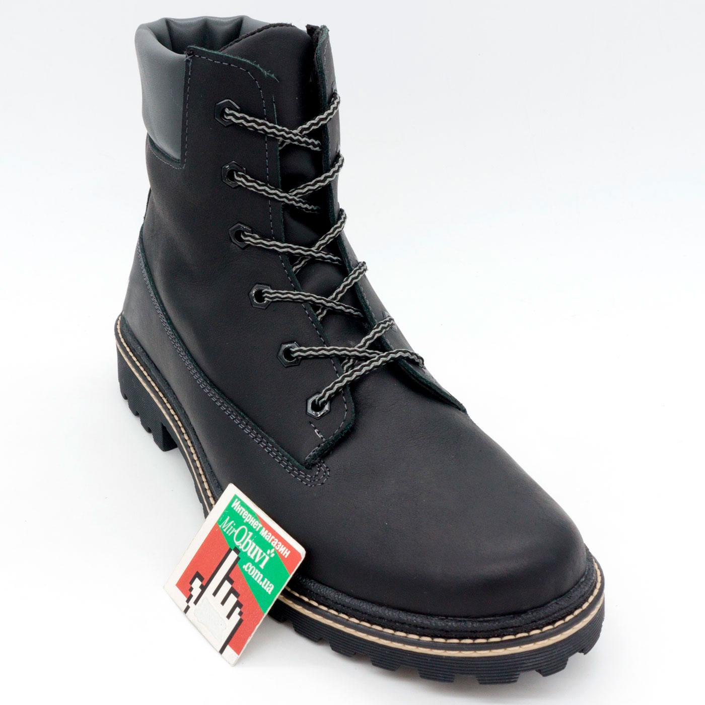 фото front Черные мужские ботинки Реплика Timberland 103 (Тимберленд)  front