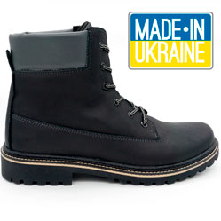 Черные мужские ботинки Реплика Timberland 103 (Тимберленд)