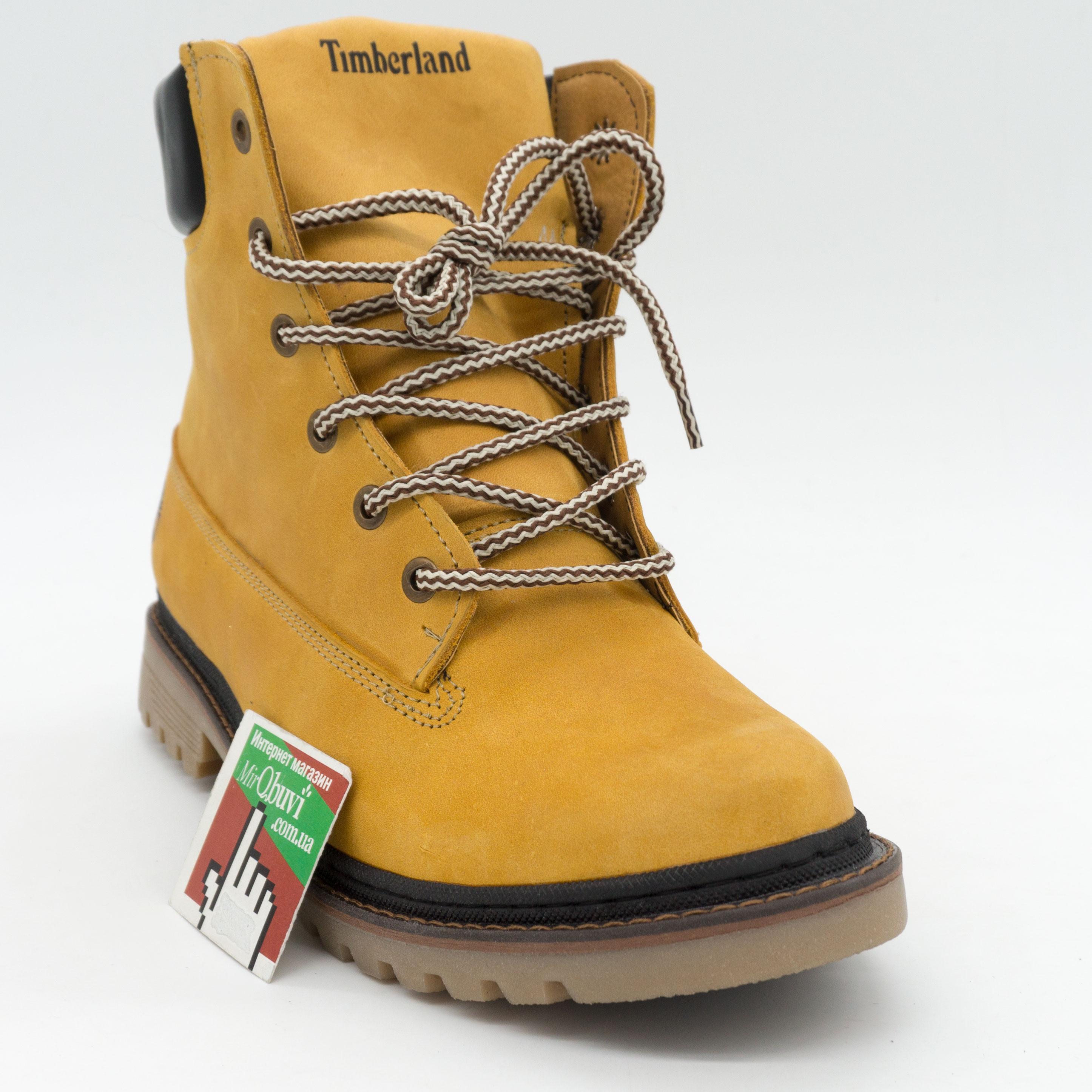 фото bottom Желтые мужские ботинки Реплика Timberland 103 (Тимберленд)  bottom