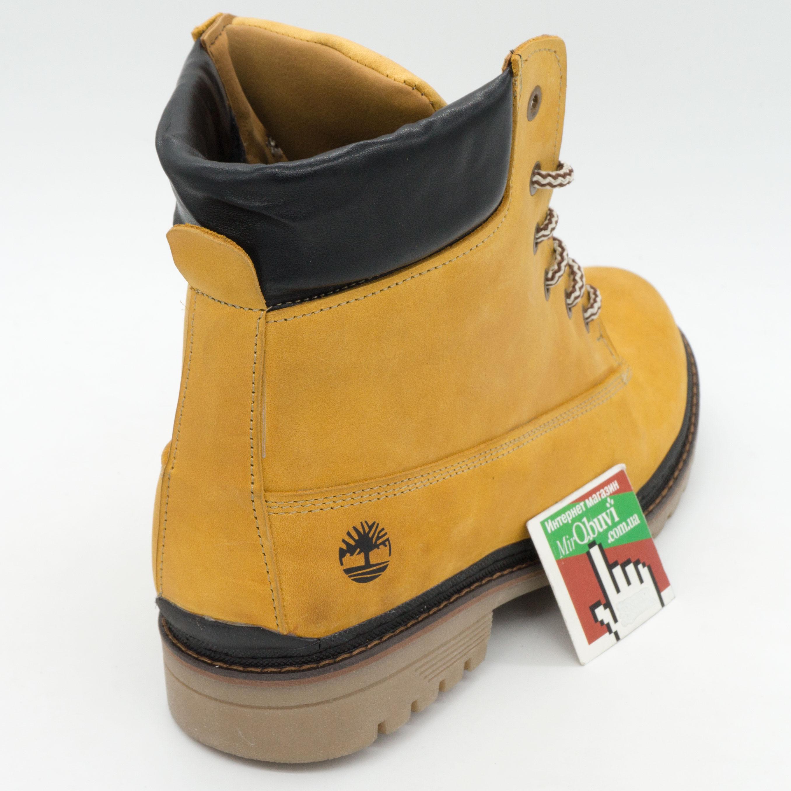 фото front Желтые мужские ботинки Реплика Timberland 103 (Тимберленд)  front