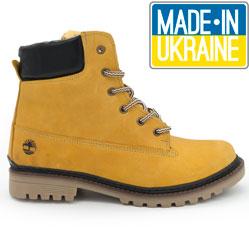 Желтые мужские ботинки Реплика Timberland 103 (Тимберленд)
