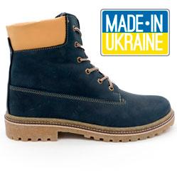 Синие мужские ботинки Реплика Timberland 103 (Тимберленд)