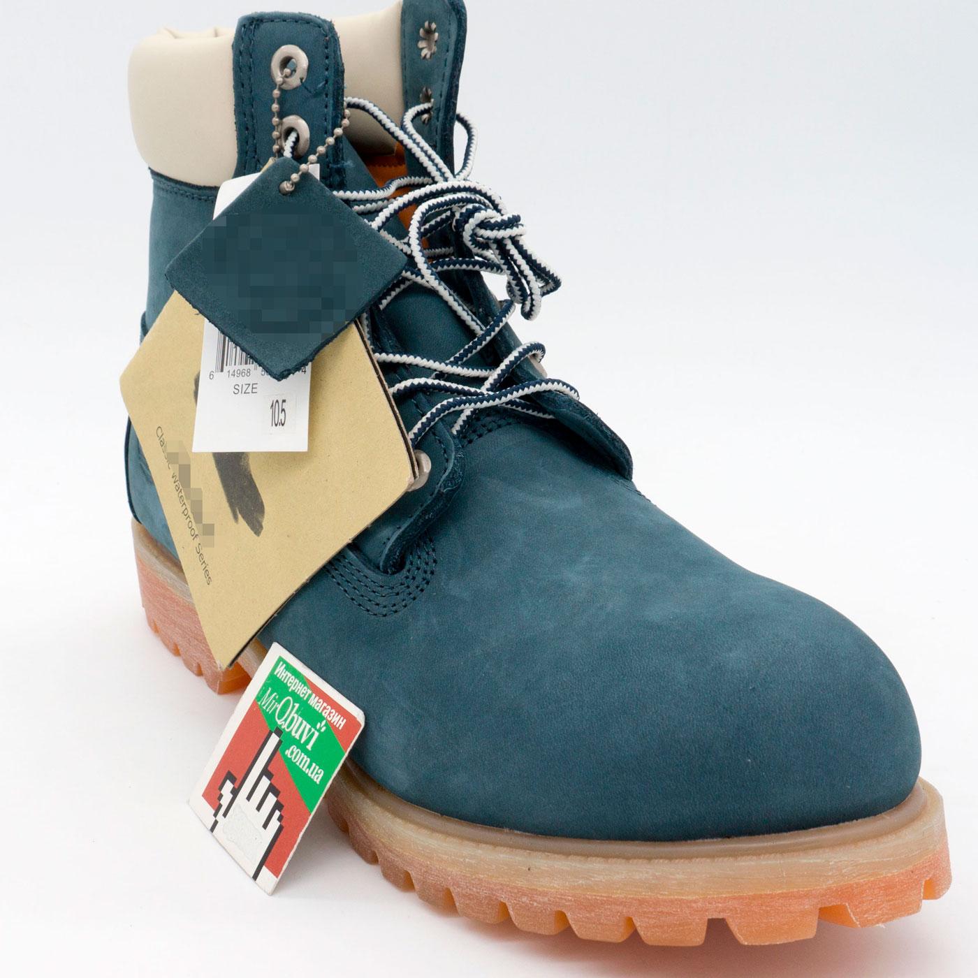 фото back Ботинки Тимберленд синие 26578 - Реплика Топ качества! back
