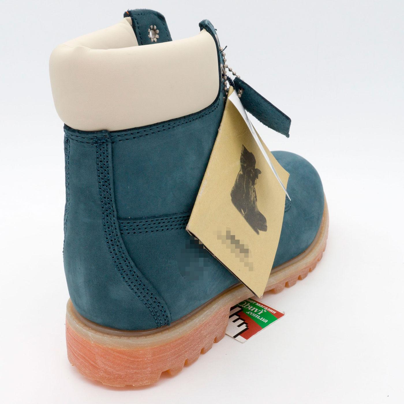 фото bottom Ботинки Тимберленд синие 26578 - Реплика Топ качества! bottom