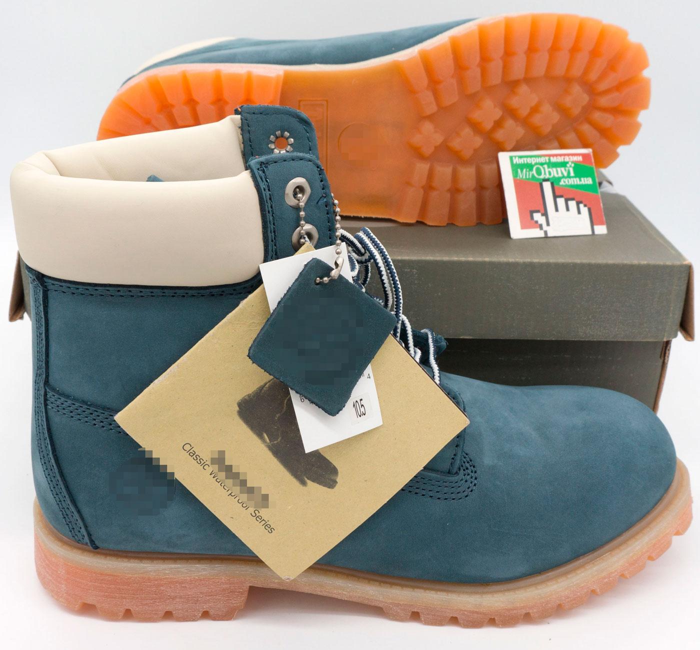 фото front Ботинки Тимберленд синие 26578 - Реплика Топ качества! front