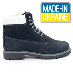 Синие ботинки Реплика Timberland 102 (сделано в Украине)