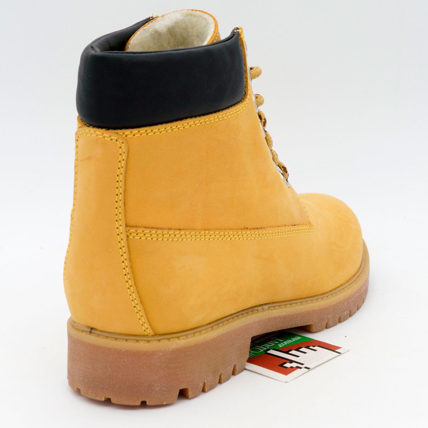 фото bottom Желтые женские ботинки Реплика Timberland 102 (сделано в Украине) bottom