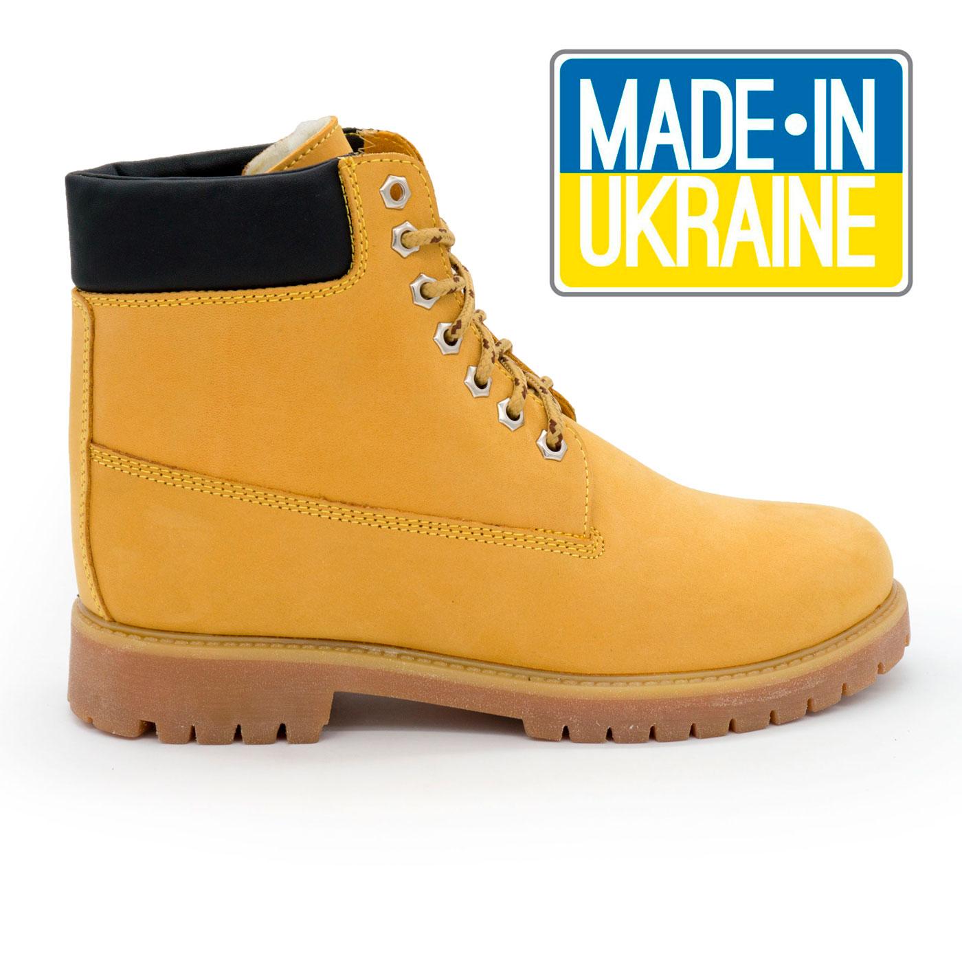 фото main Желтые женские ботинки Реплика Timberland 102 (сделано в Украине) main