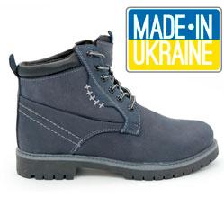 Женские синие ботинки Реплика Timberland 101 (сделано в Украине)