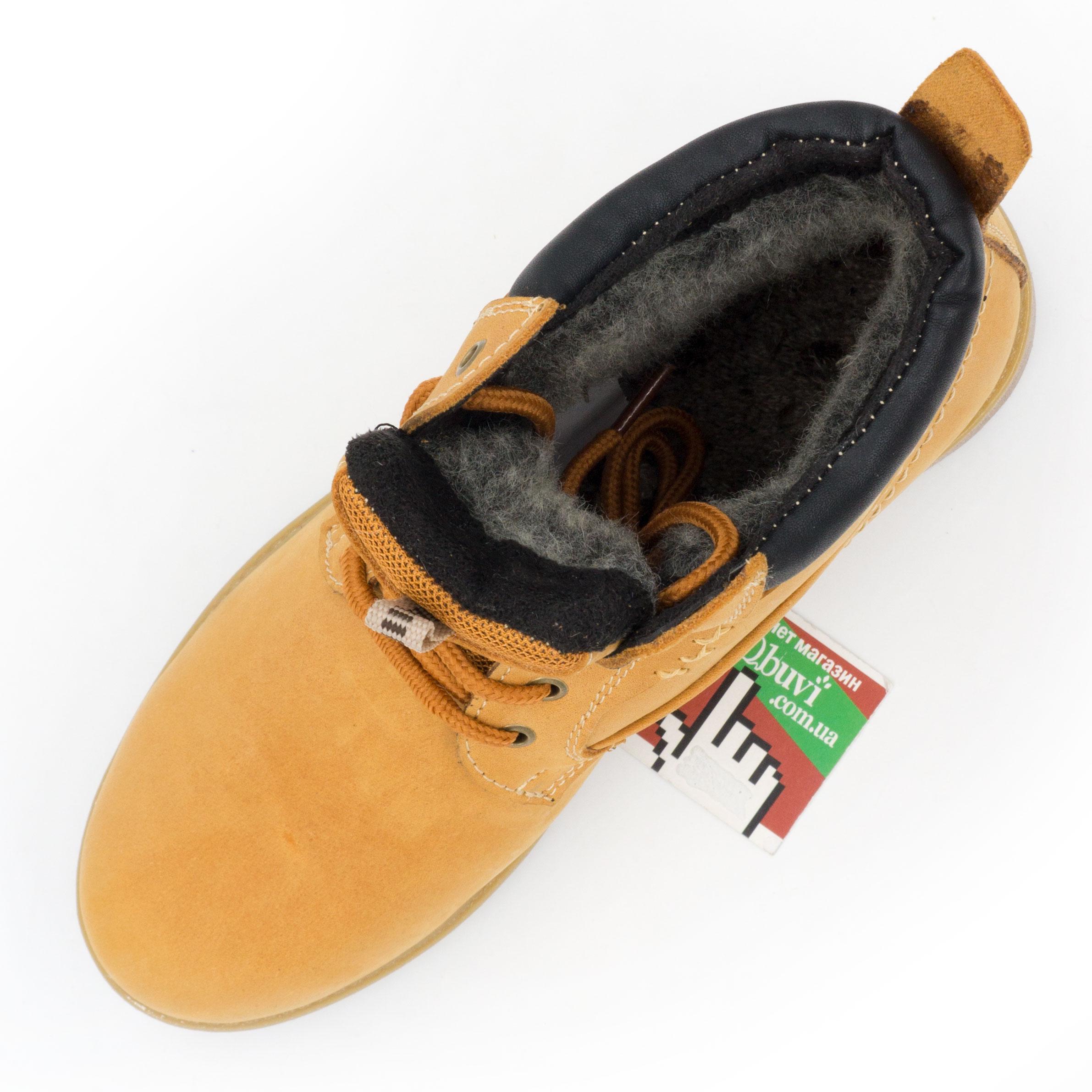 фото back Желтые кожаные женские ботинки Реплика Timberland 101 (Тимберленд)  back