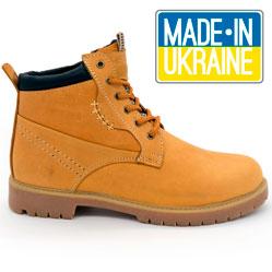 Желтые кожаные женские ботинки Реплика Timberland 101 (Тимберленд)