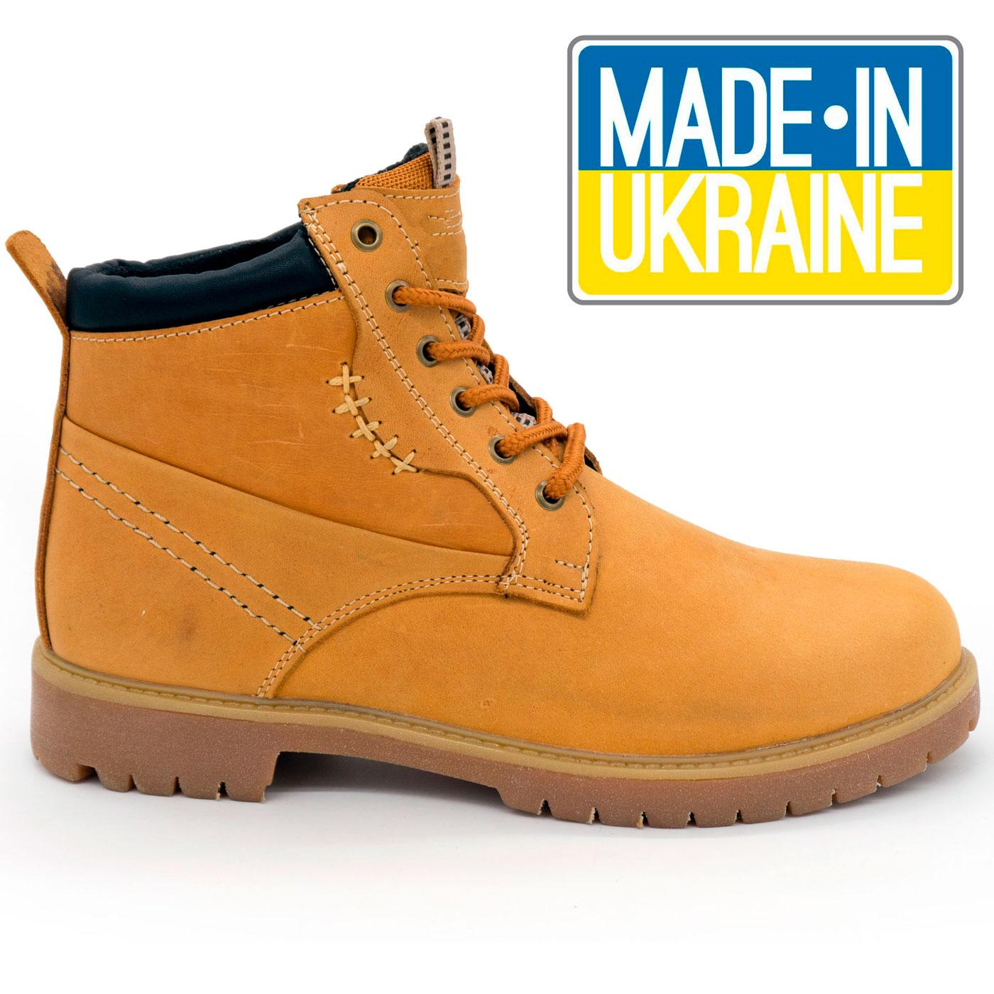 фото main Желтые кожаные женские ботинки Реплика Timberland 101 (Тимберленд)  main