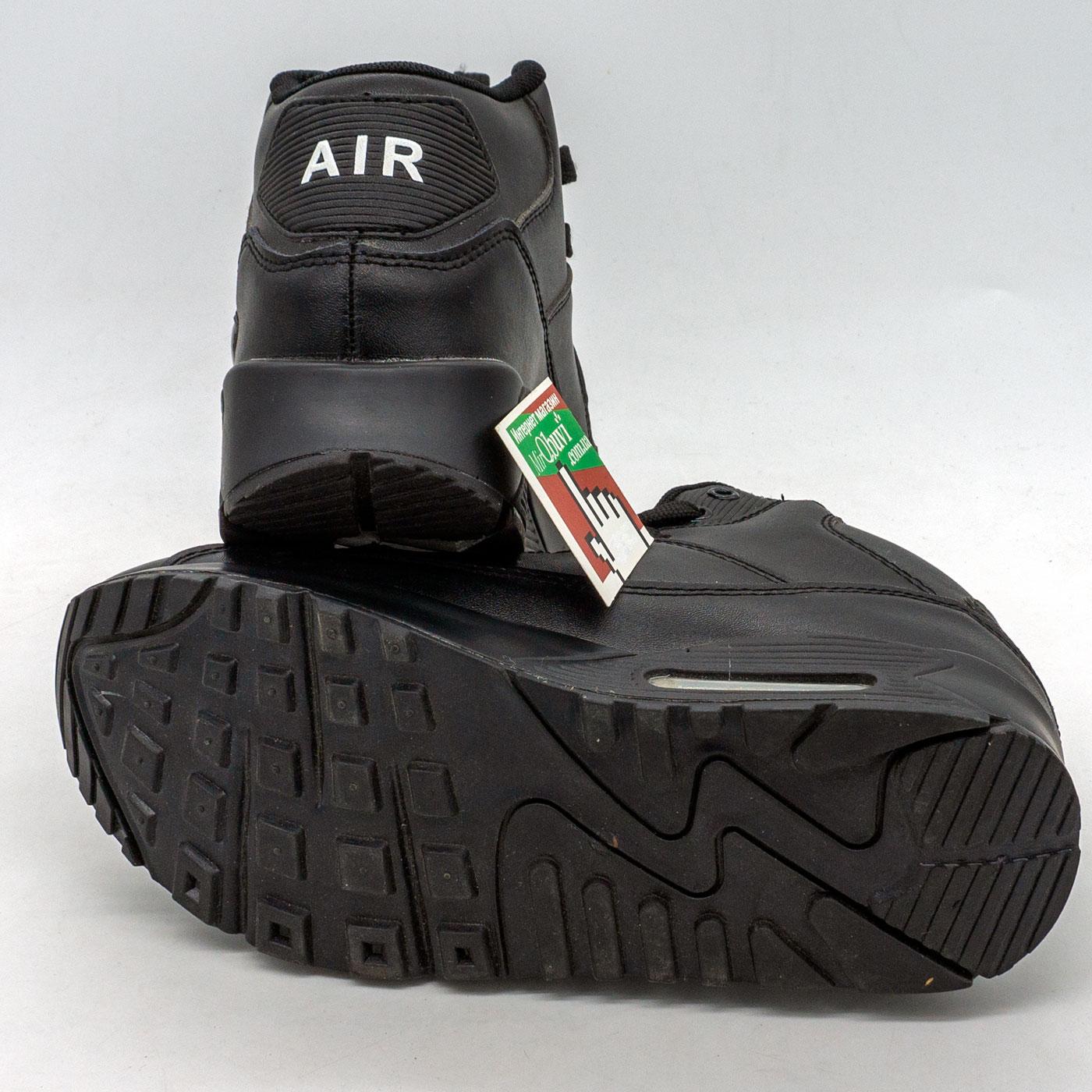 фото back Зимние кроссовки Nike Air Max 90 черные back