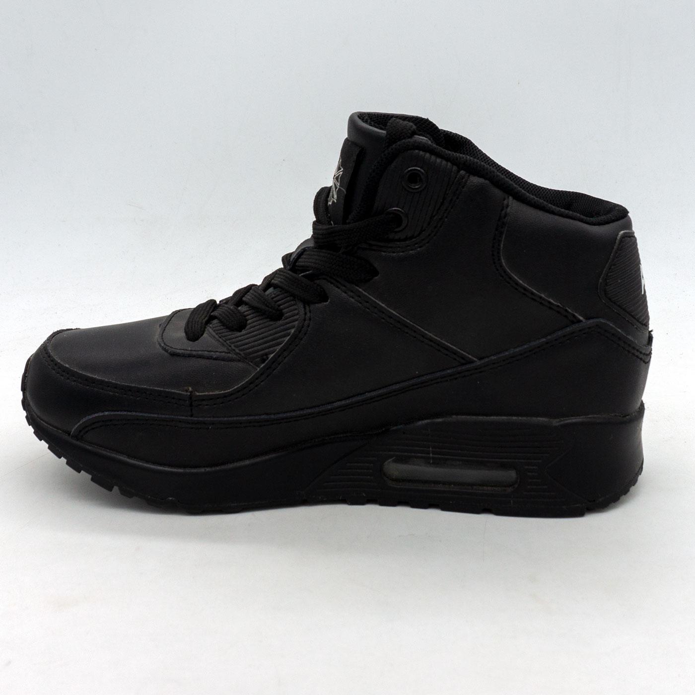 фото front Зимние кроссовки Nike Air Max 90 черные front
