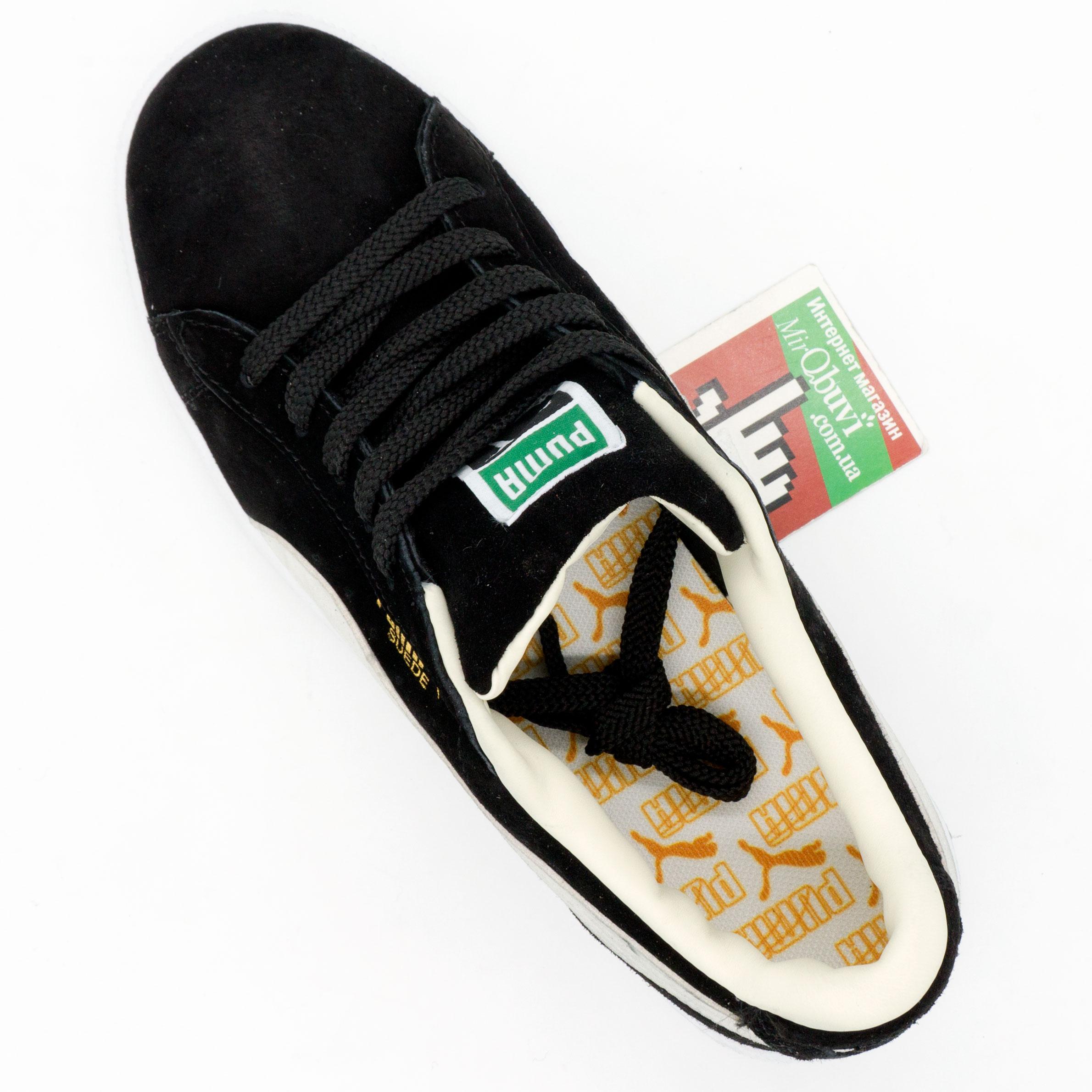 фото bottom Кроссовки Puma Suede Пума Суеде черные, натуральная замша,  Топ качество! bottom