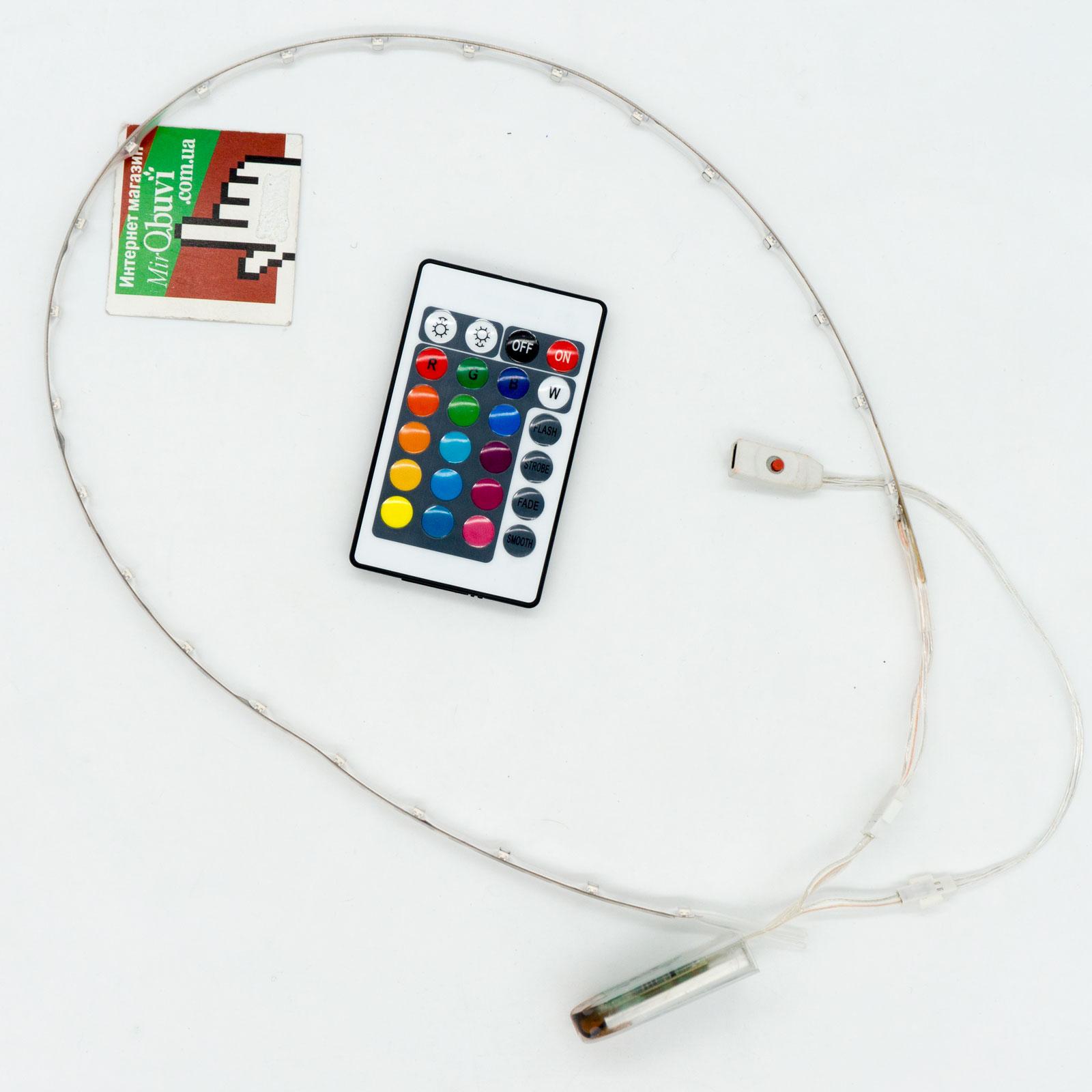 фото main Комплект светодиодной ленты для светящихся led кроссовок под пульт main