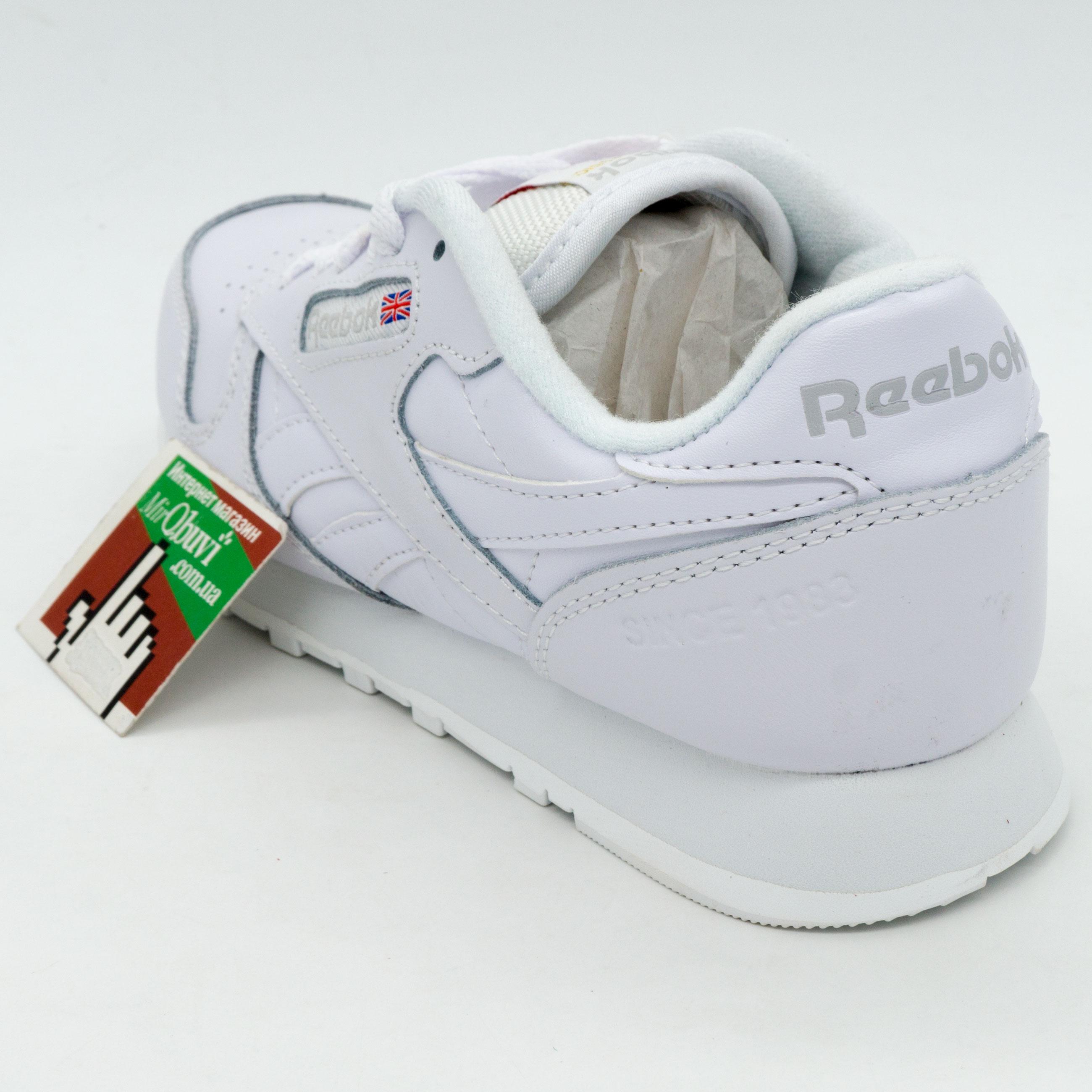 фото back Женские Reebok classic leather белые (Рибок класик кожа) back