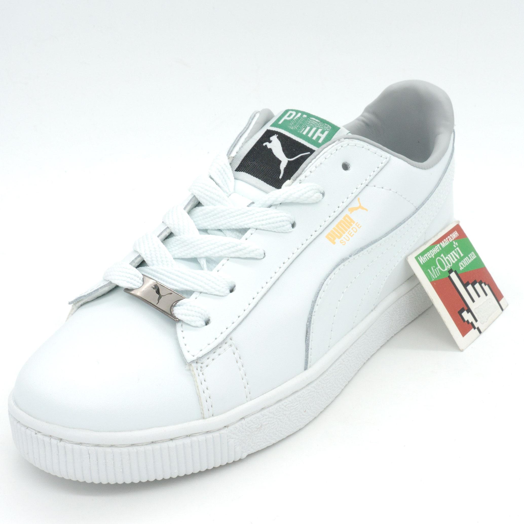 фото front Женские кроссовки Puma Suede classic белые front