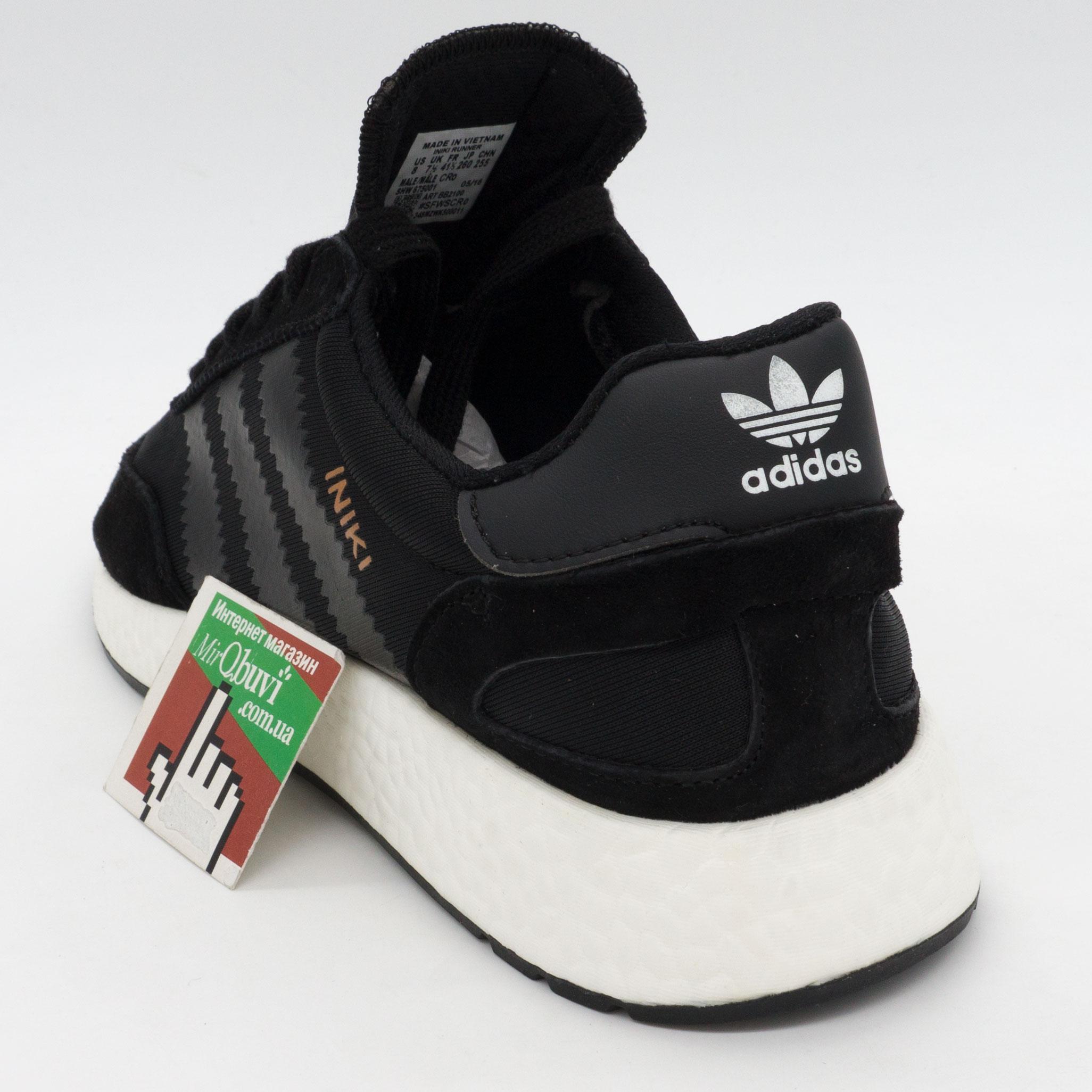 фото back Кроссовки для бега Adidas Iniki Runner черные №1 back