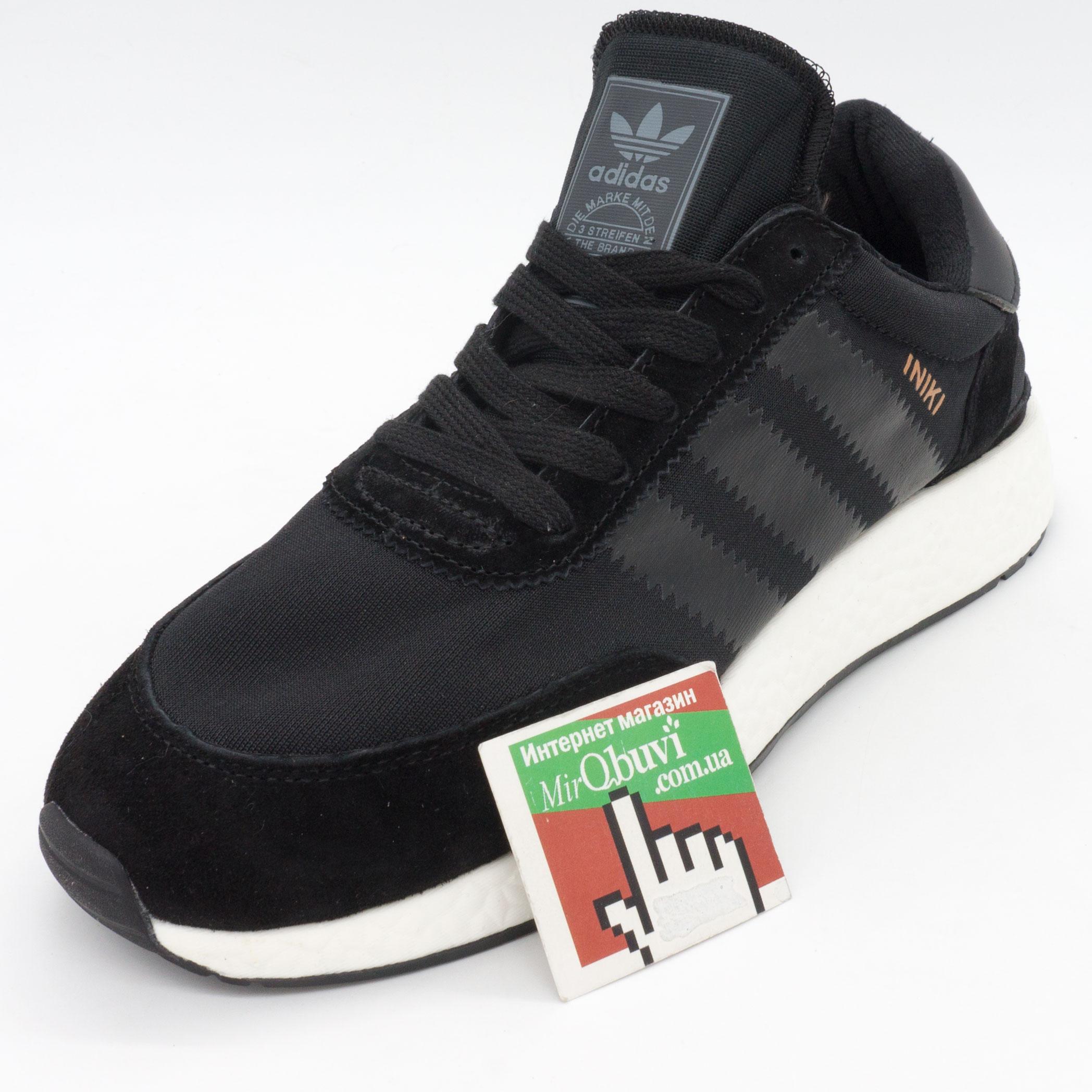 фото front Кроссовки для бега Adidas Iniki Runner черные №1 front