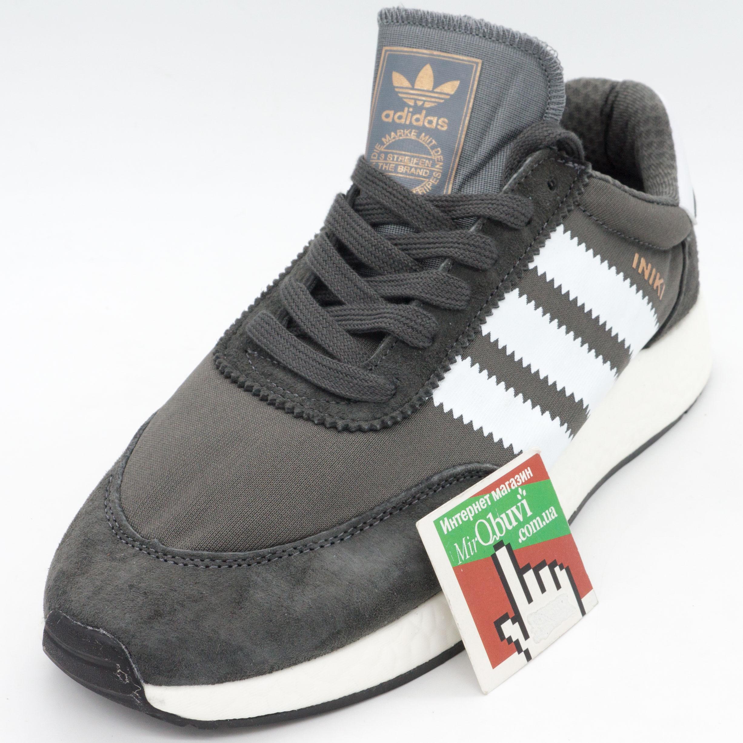 фото front Кроссовки для бега Adidas Iniki Runner серые front