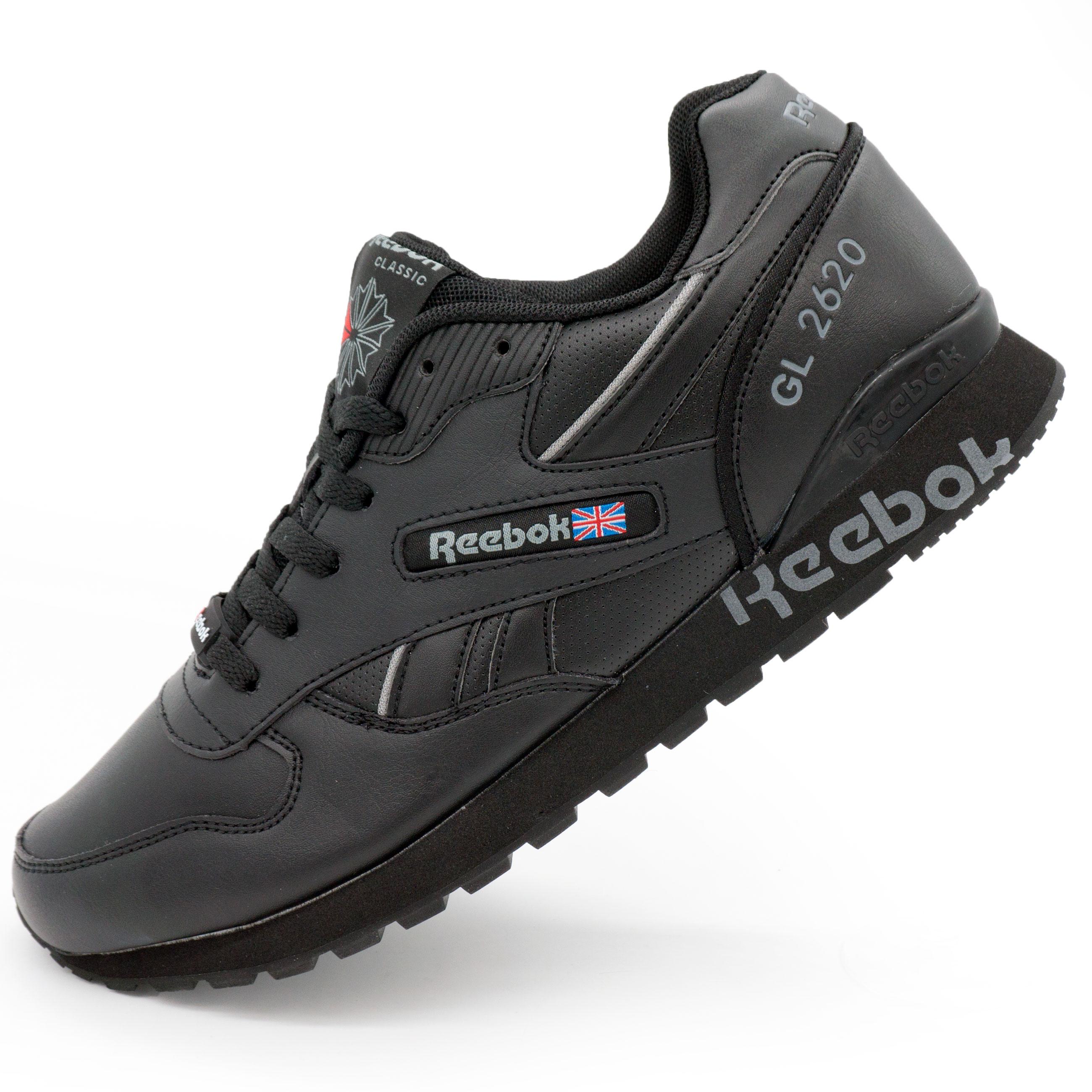 фото main Мужские кожаные кроссовки Reebok classic GL 2620 (Рибок класик черные) main
