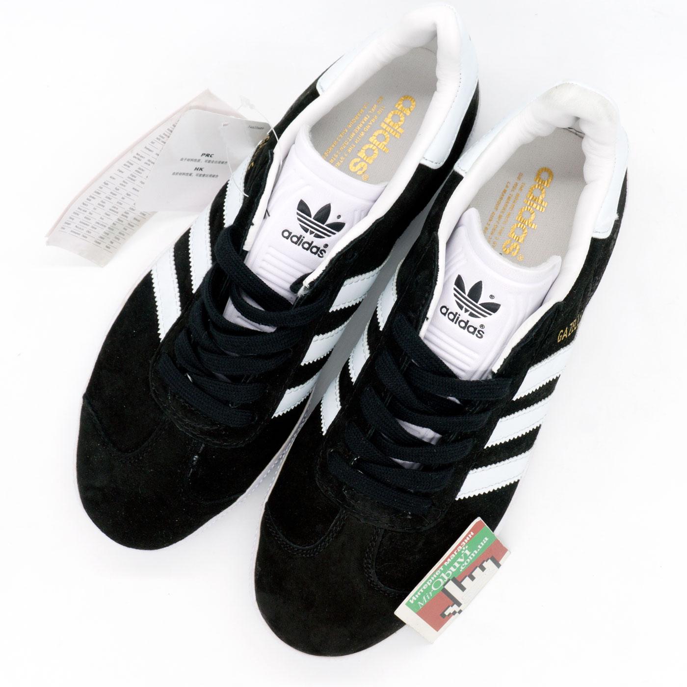 фото back Черные кроссовки Adidas Gazelle натуральная замша, Vietnam - Топ качество! back