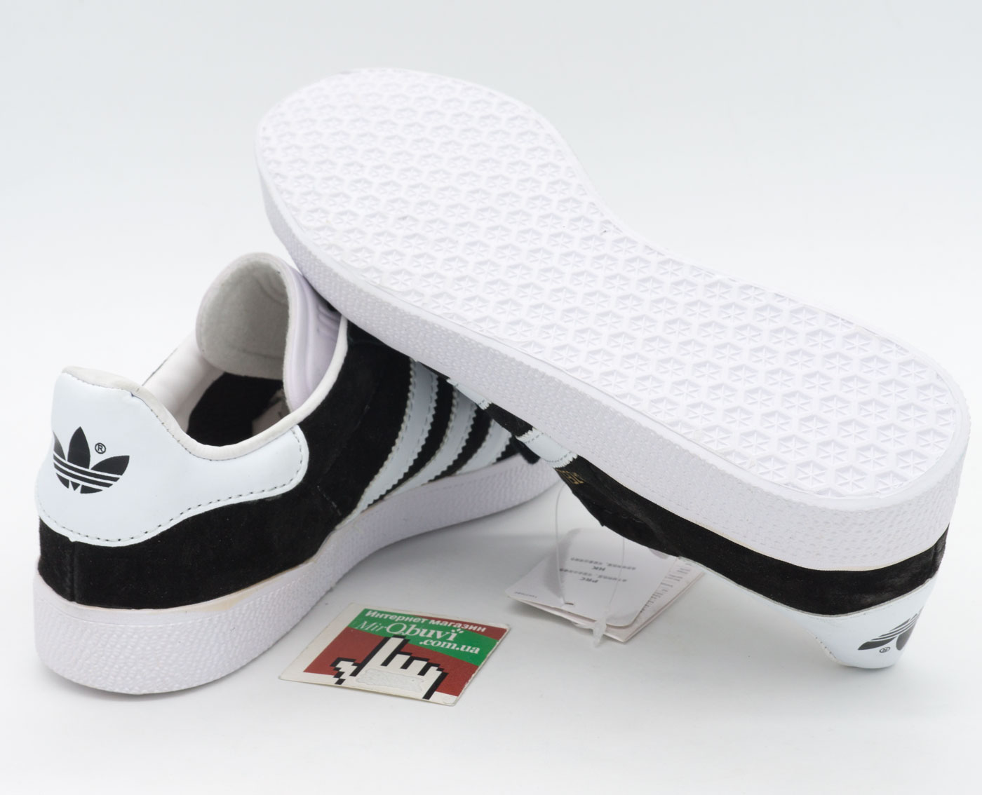 большое фото №6 Черные кроссовки Adidas Gazelle натуральная замша, Vietnam - Топ качество!
