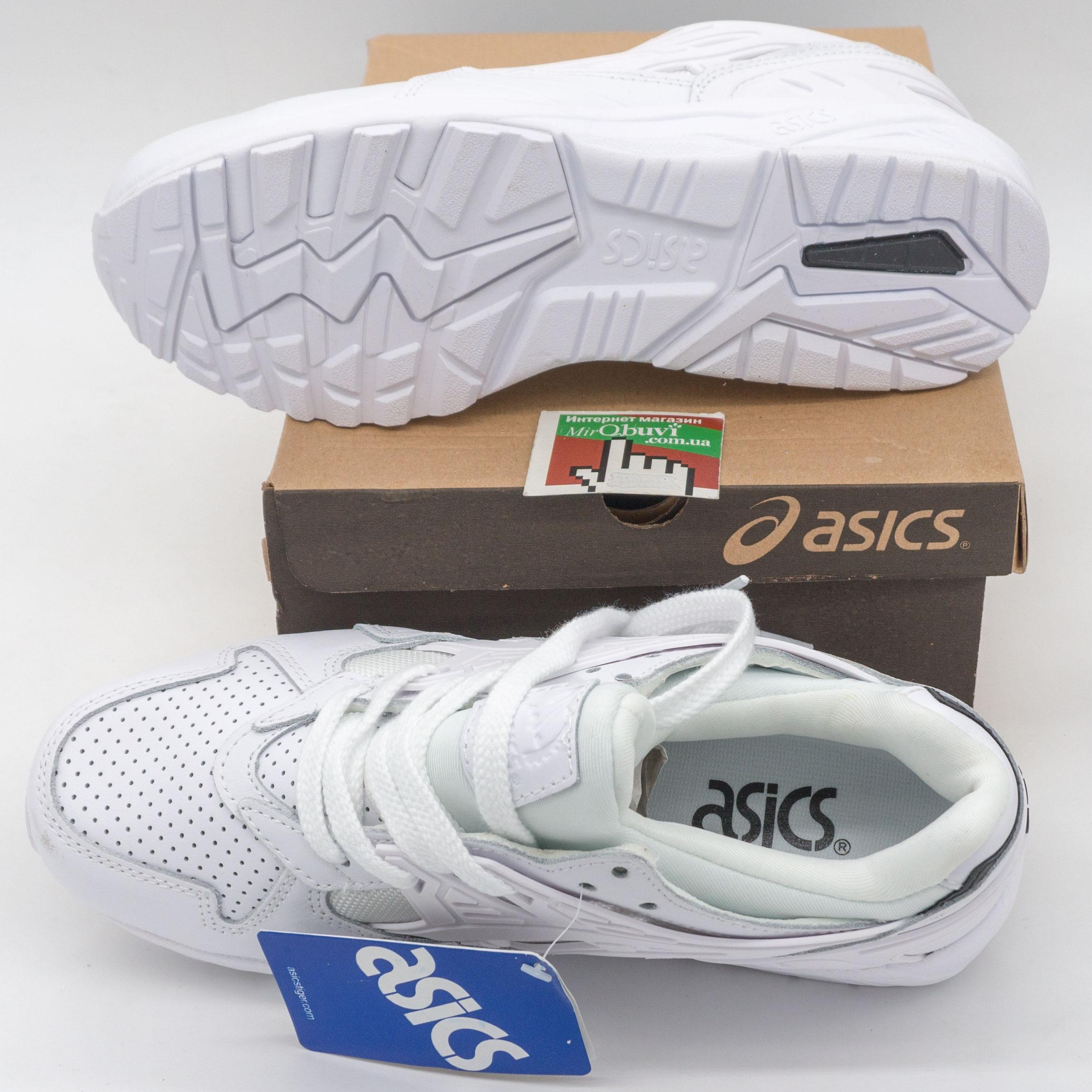 фото bottom Женские кожаные кроссовки Asics Gel белые. Топ качество! bottom