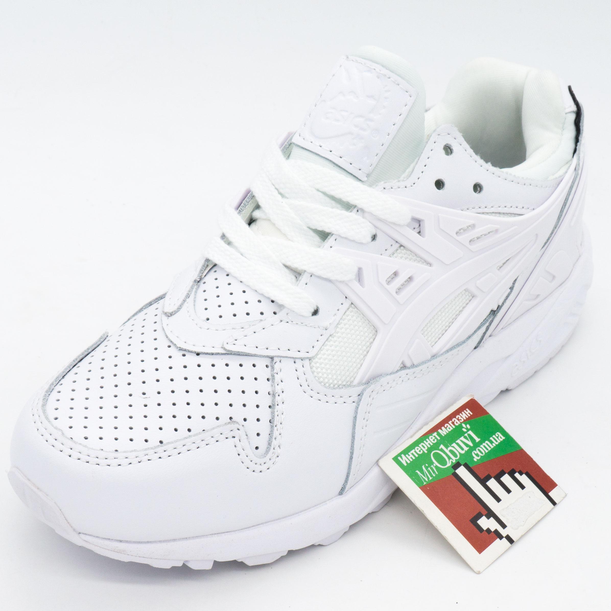 фото front Женские кожаные кроссовки Asics Gel белые. Топ качество! front
