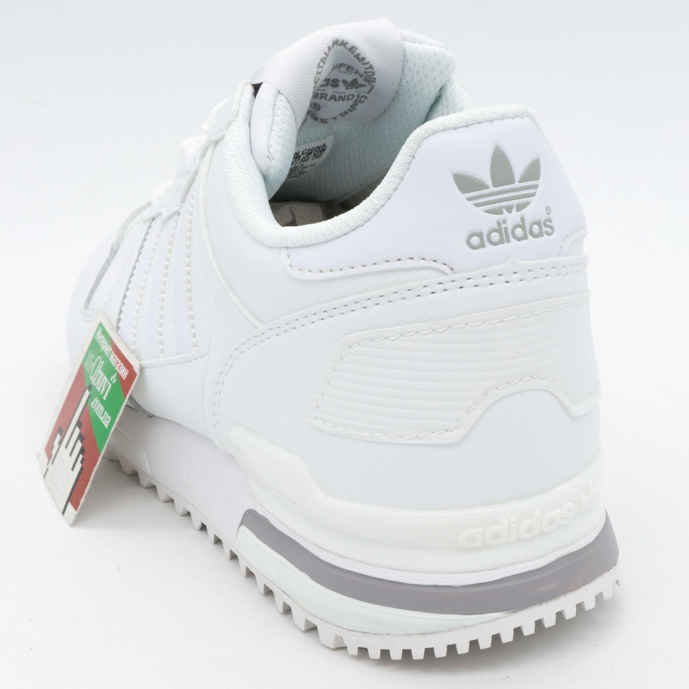 фото back Кожаные белые женские кроссовки Adidas zx700 - Топ качество! back