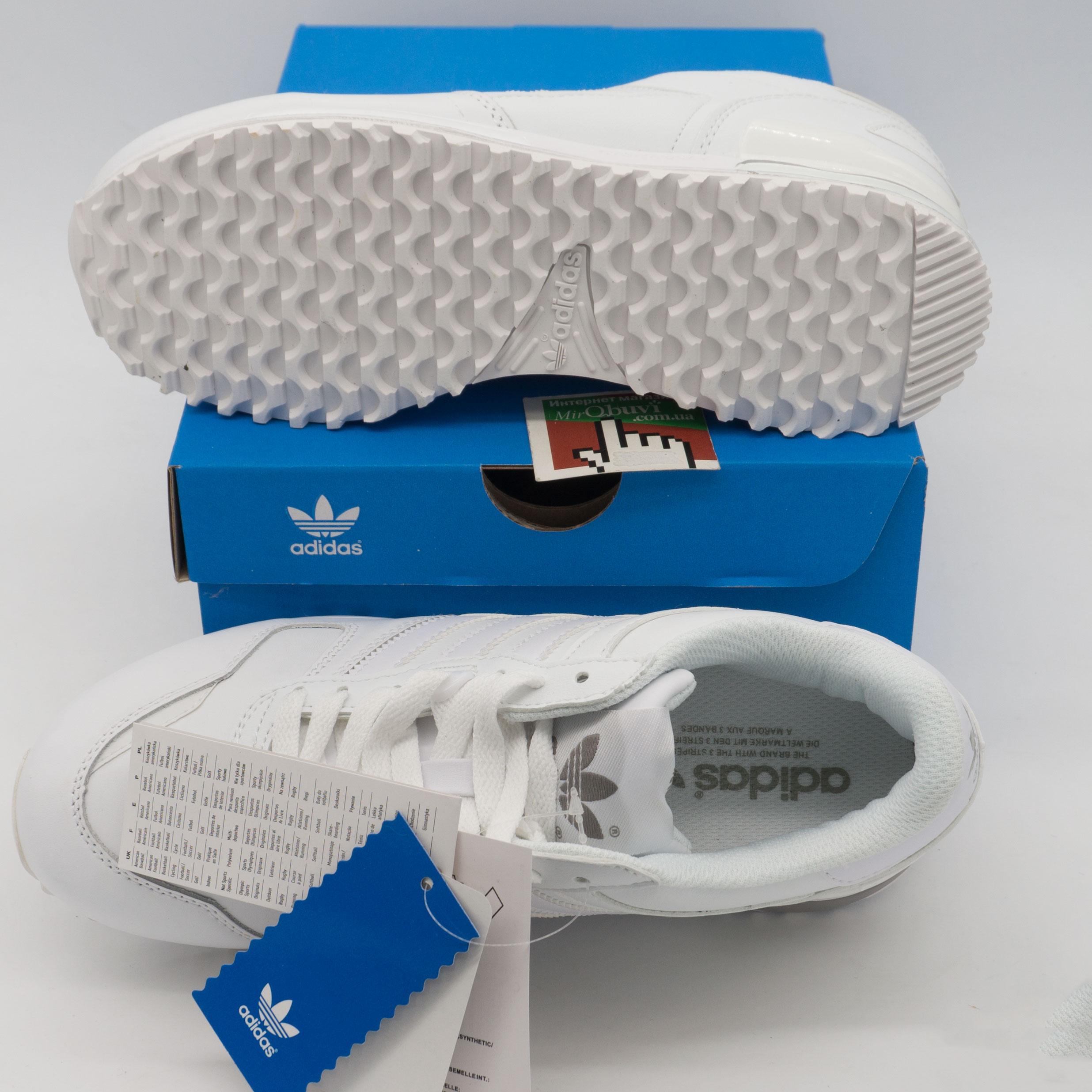 фото bottom Кожаные белые женские кроссовки Adidas zx700 - Топ качество! bottom