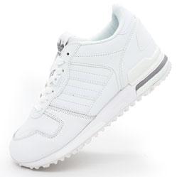 Кожаные белые женские кроссовки Adidas zx700 - Топ качество!
