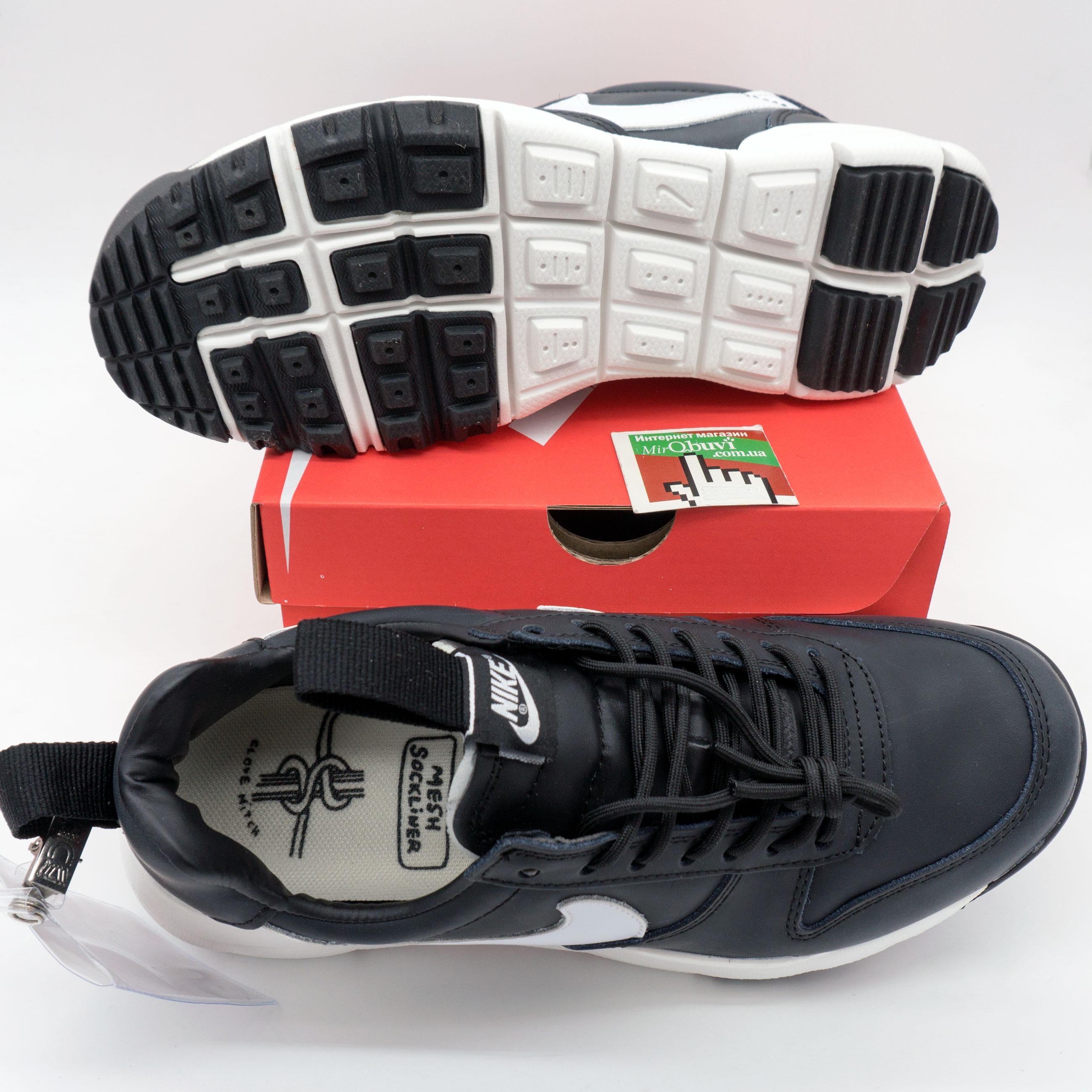 фото bottom Мужские  кожаные черные кроссовки Nike Mars Yard 2.0. Топ качество! bottom