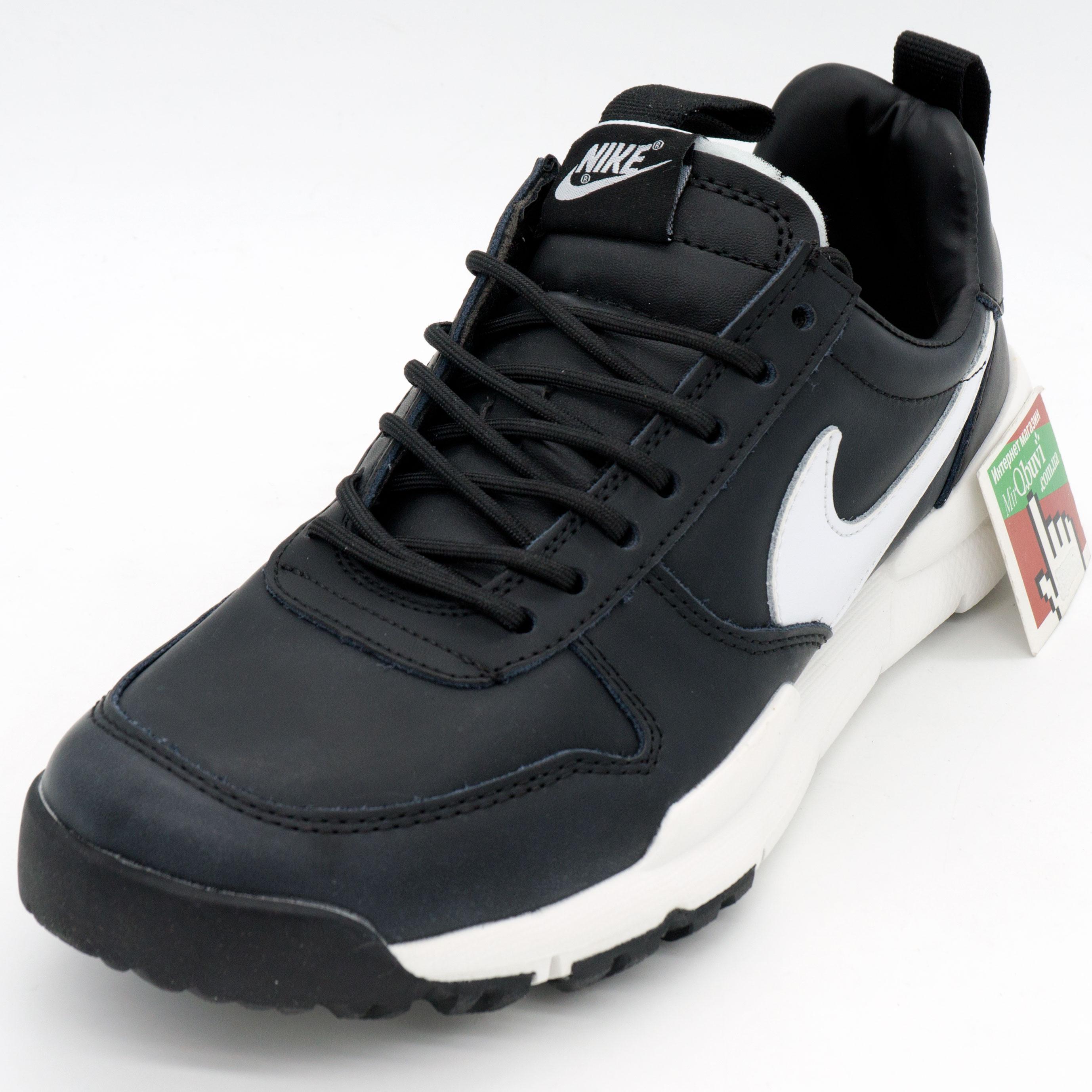 фото front Мужские  кожаные черные кроссовки Nike Mars Yard 2.0. Топ качество! front