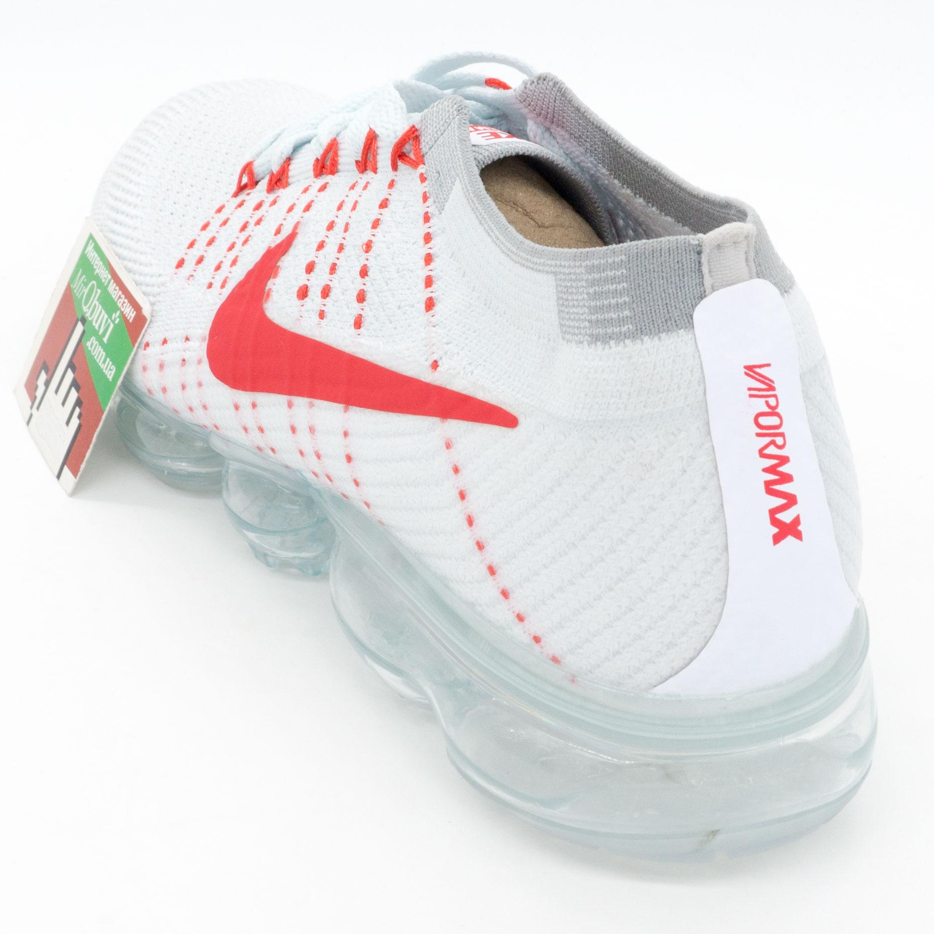 фото back Кроссовки для бега Nike Air VaporMax белые с красным. Топ качество! back