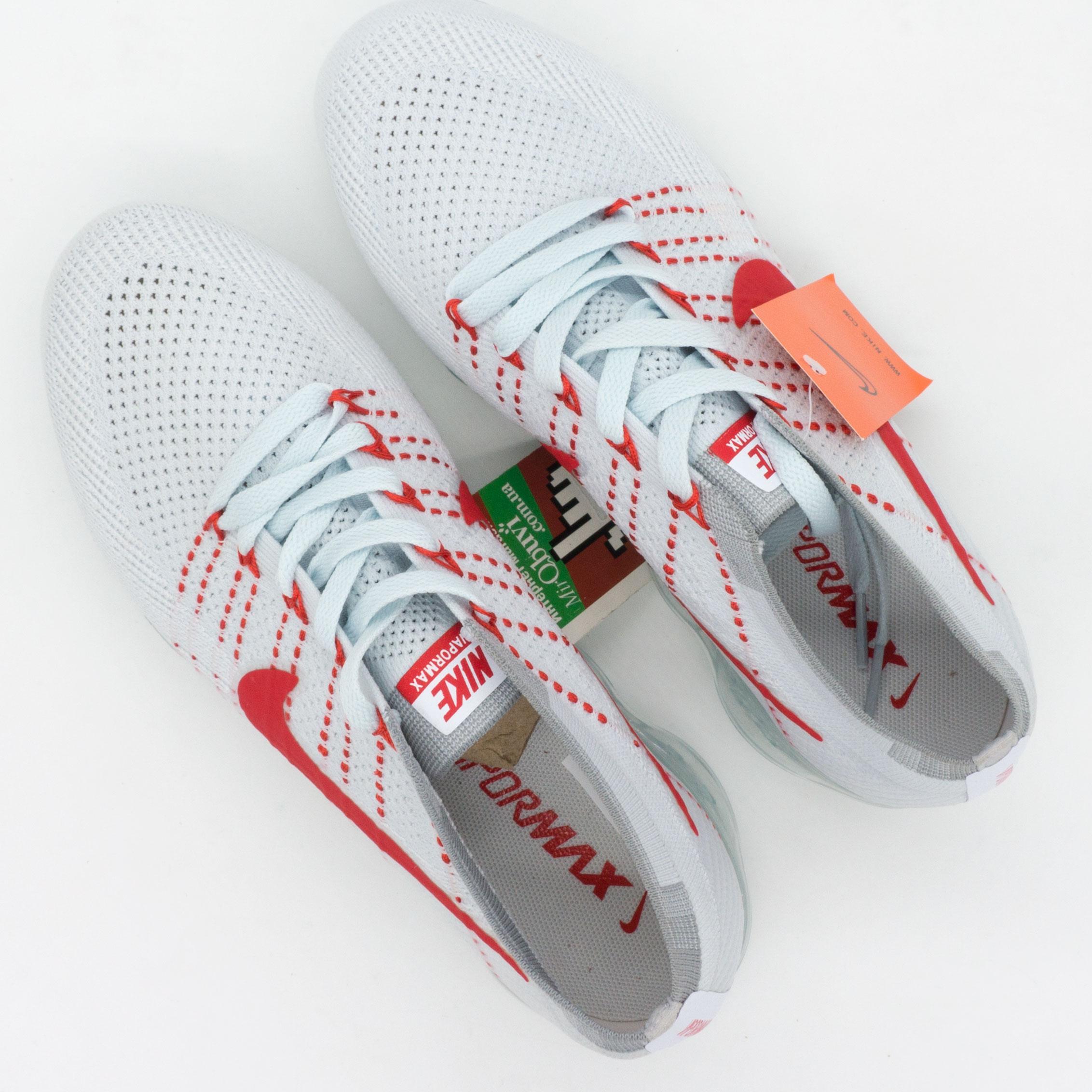 фото bottom Кроссовки для бега Nike Air VaporMax белые с красным. Топ качество! bottom