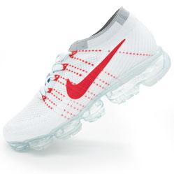 Кроссовки для бега Nike Air VaporMax белые с красным. Топ качество!