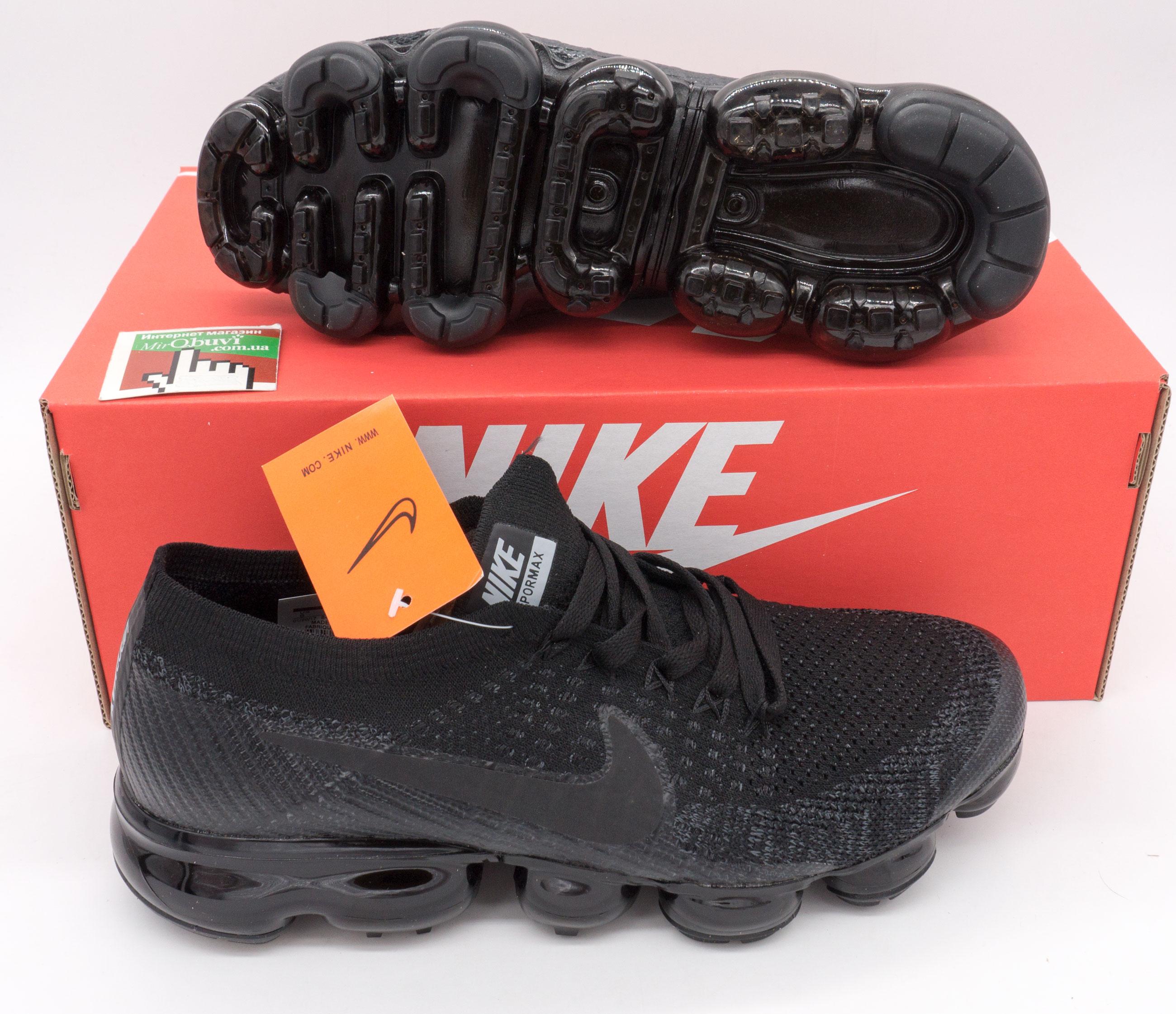 фото bottom Кроссовки для бега Nike Air VaporMax черные. Топ качество! bottom