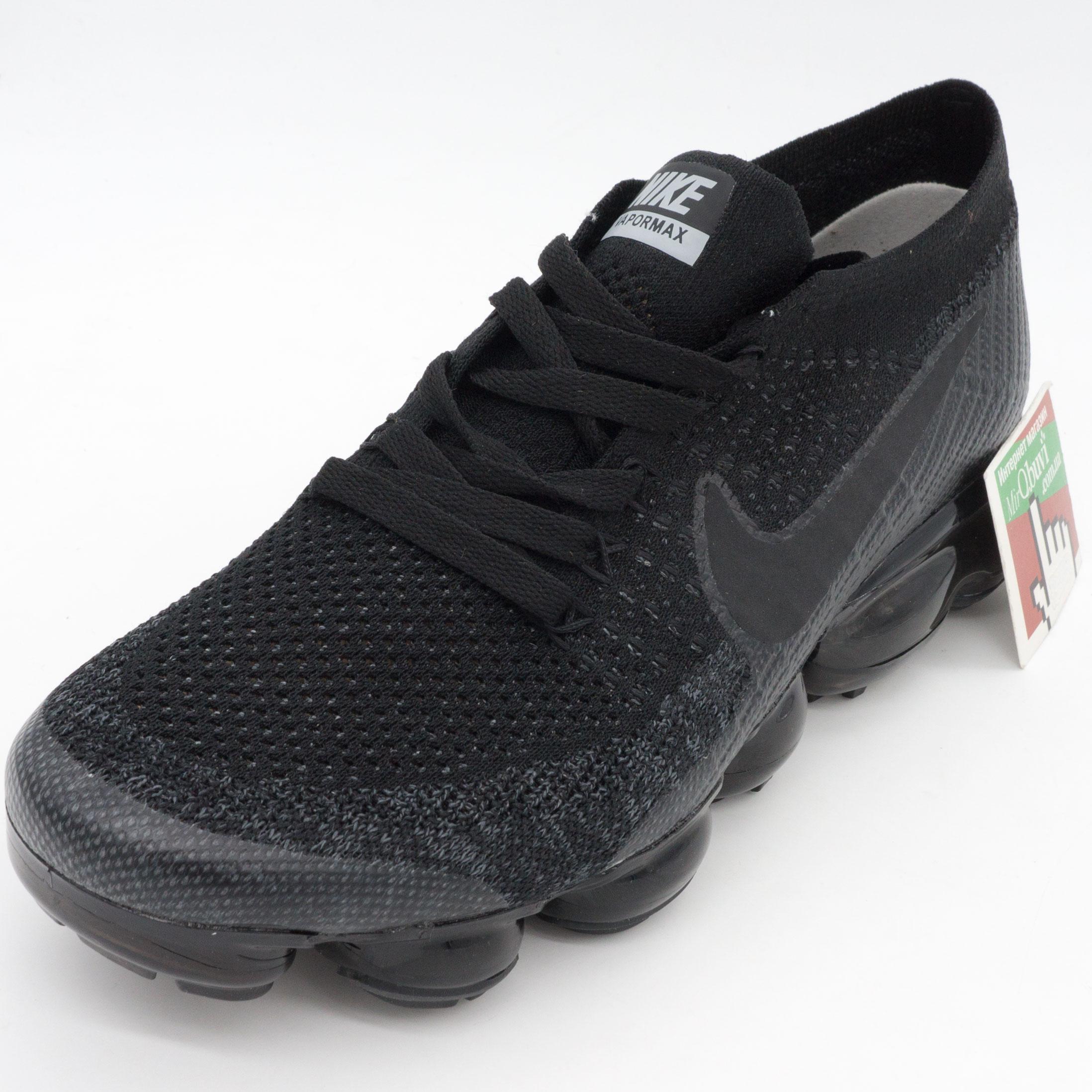 фото front Кроссовки для бега Nike Air VaporMax черные. Топ качество! front