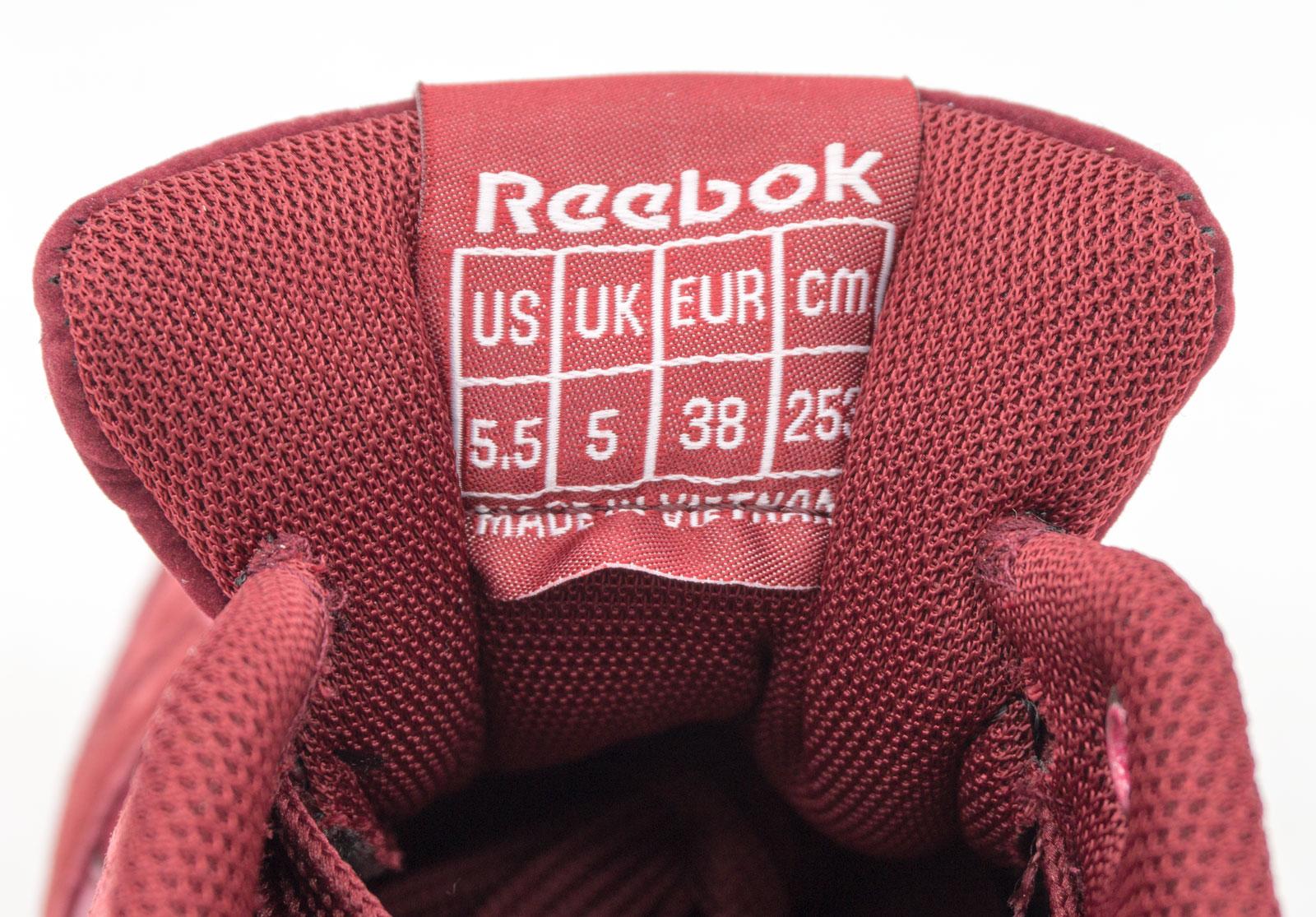 большое фото №6 Женские кроссовки Reebok classic полностью бордовые(Рибок класик замша)