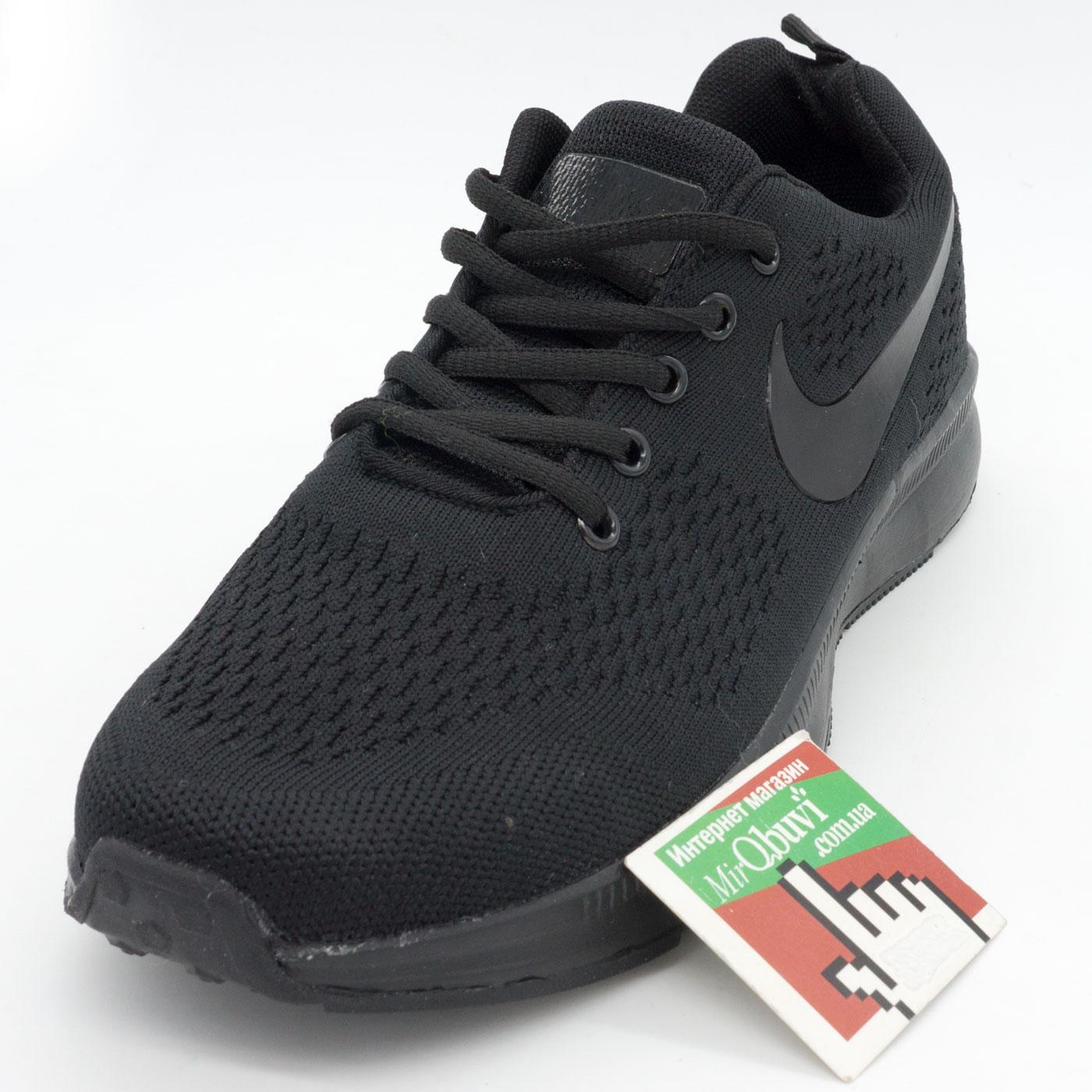 фото front Мужские кроссовки для бега Nike Zoom черные. front