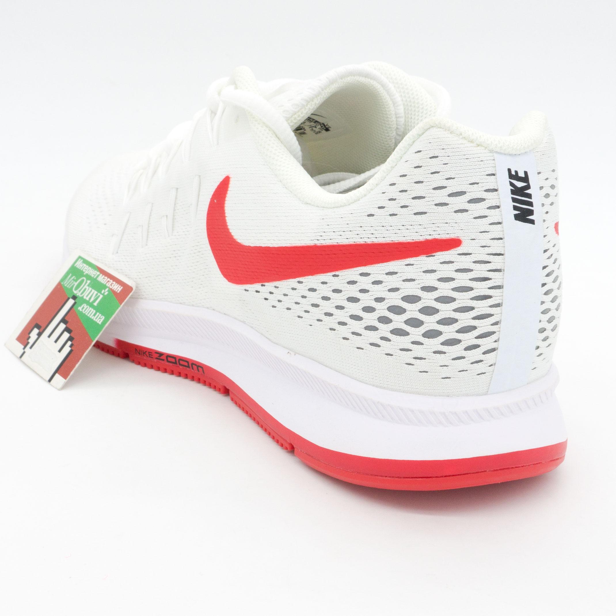 фото back Мужские кроссовки для бега Nike Zoom Pegasus 33 белые с красным. Топ качество! back