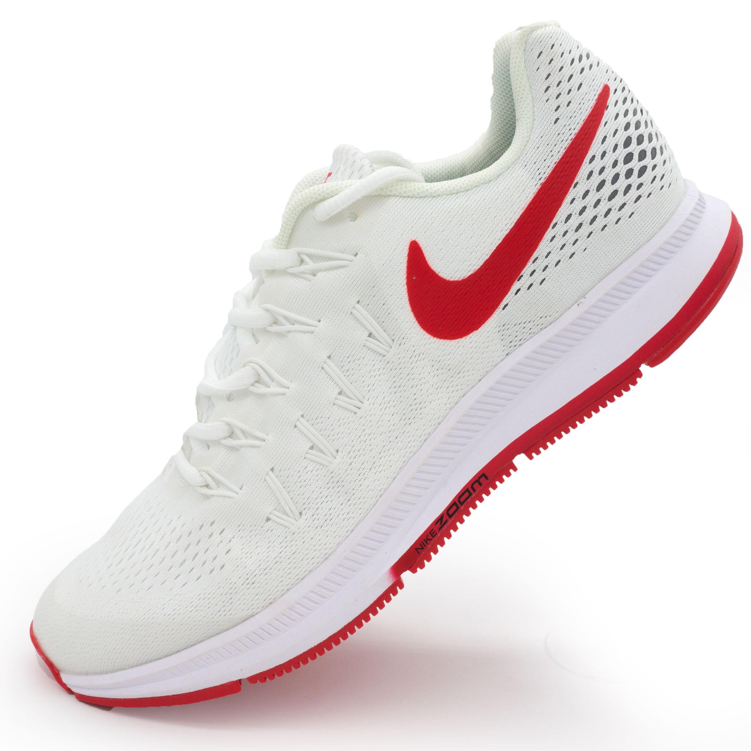 фото main Мужские кроссовки для бега Nike Zoom Pegasus 33 белые с красным. Топ качество! main
