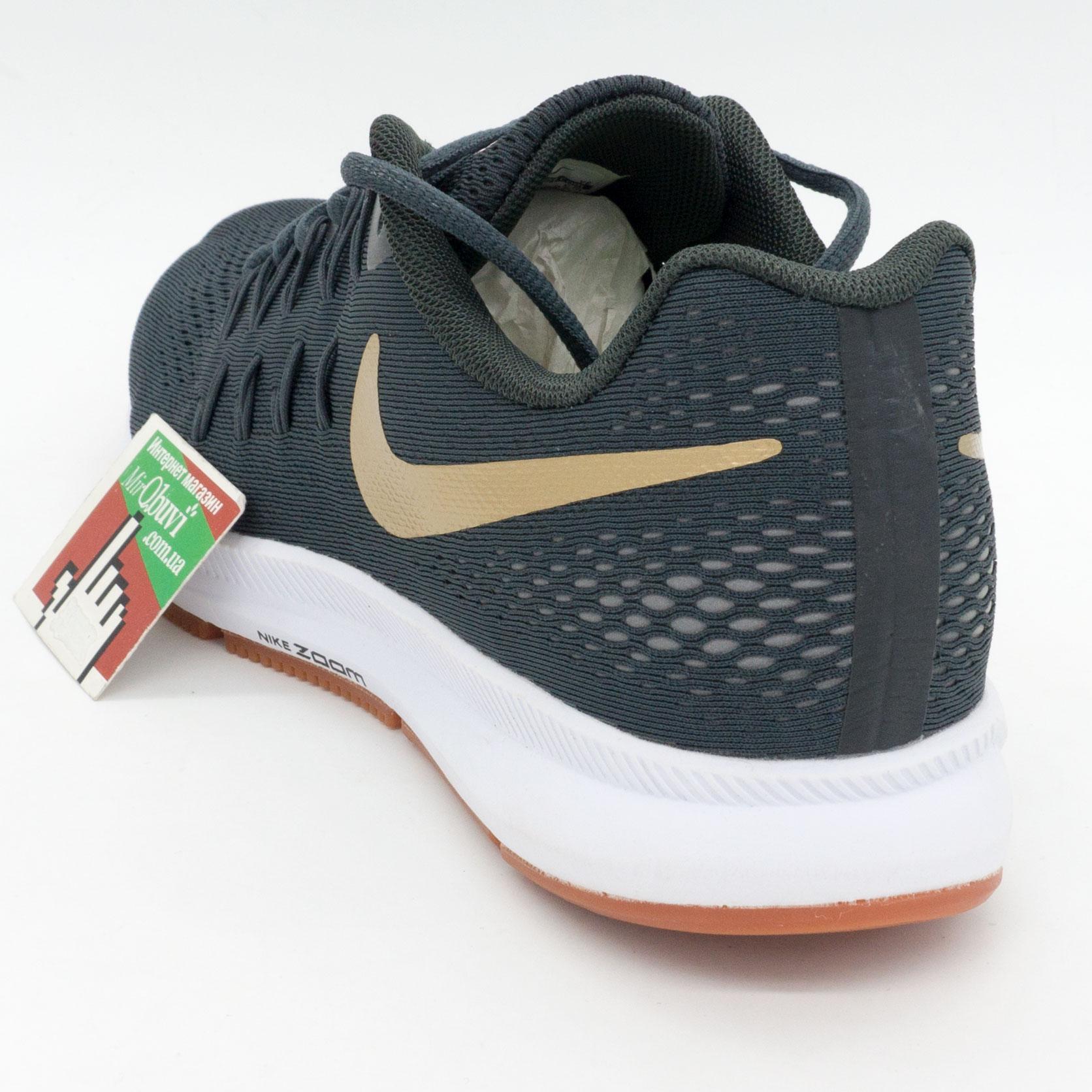фото back Мужские кроссовки для бега Nike Zoom Pegasus 33 пепельный с коричневым. Топ качество! back