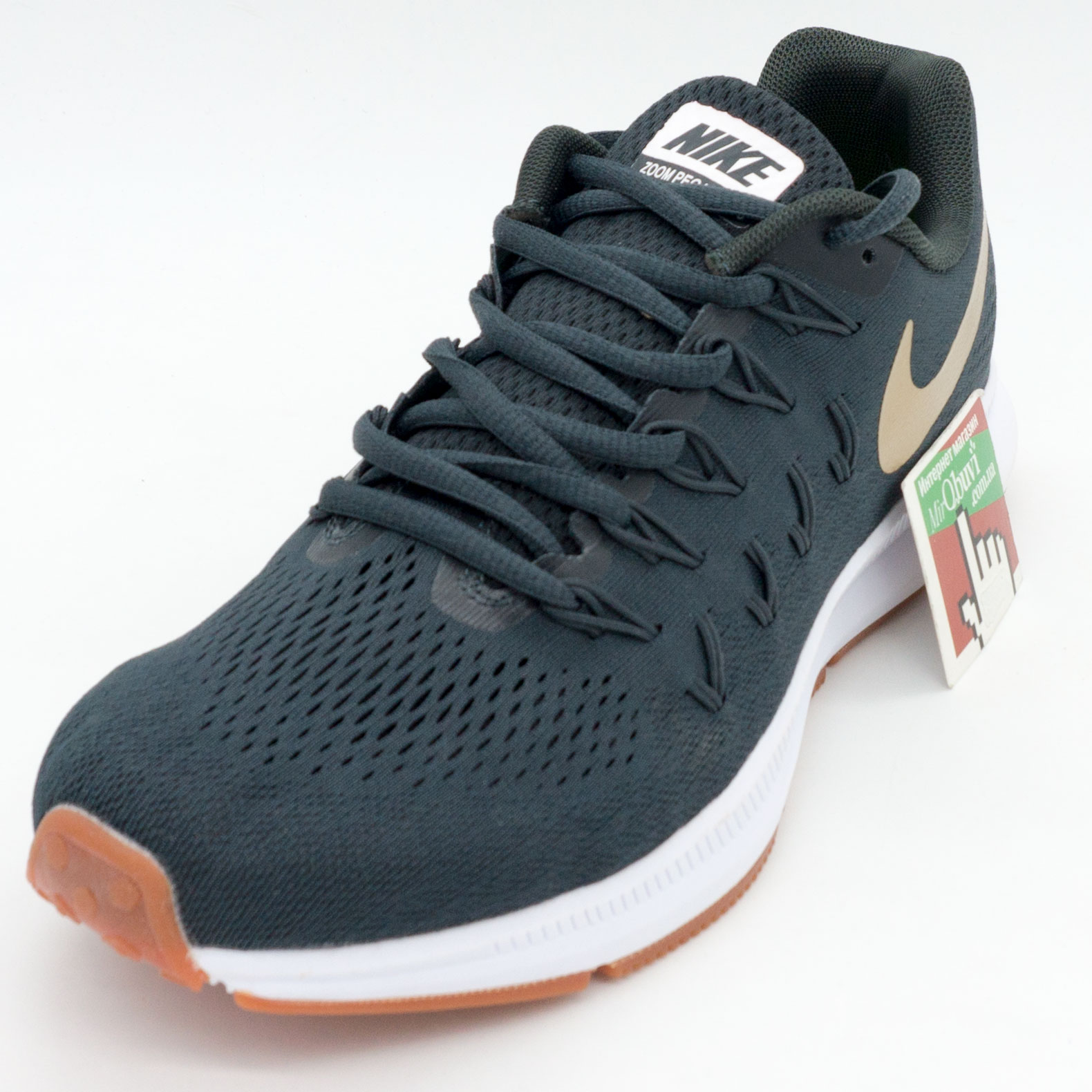 фото front Мужские кроссовки для бега Nike Zoom Pegasus 33 пепельный с коричневым. Топ качество! front
