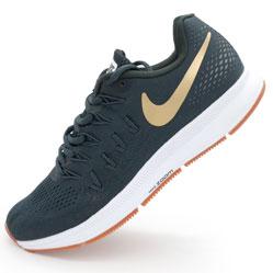 Мужские кроссовки для бега Nike Zoom Pegasus 33 пепельный с коричневым. Топ качество!