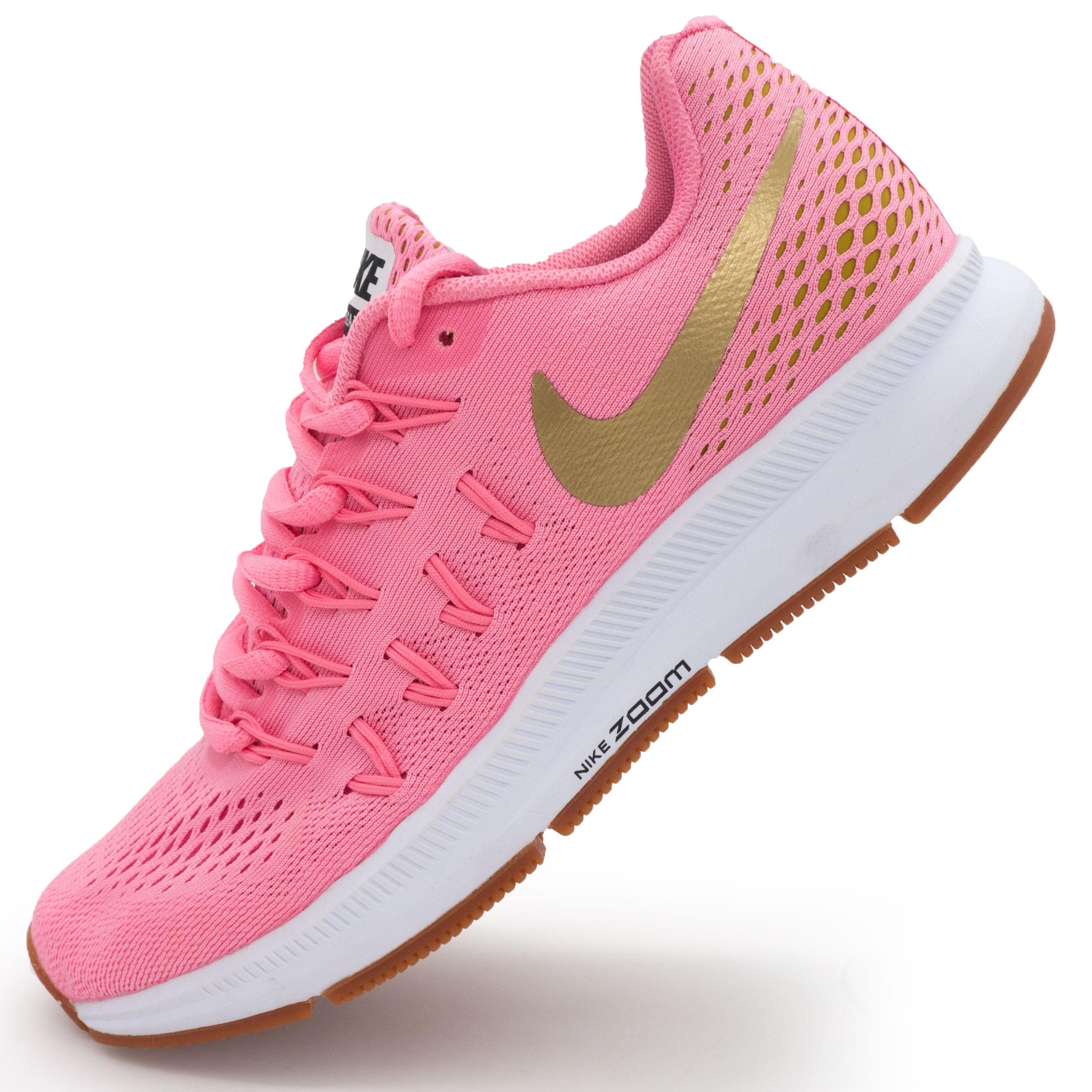 168f2658 ... фото main Женские кроссовки для бега Nike Zoom Pegasus 33 розовые с  коричневым.