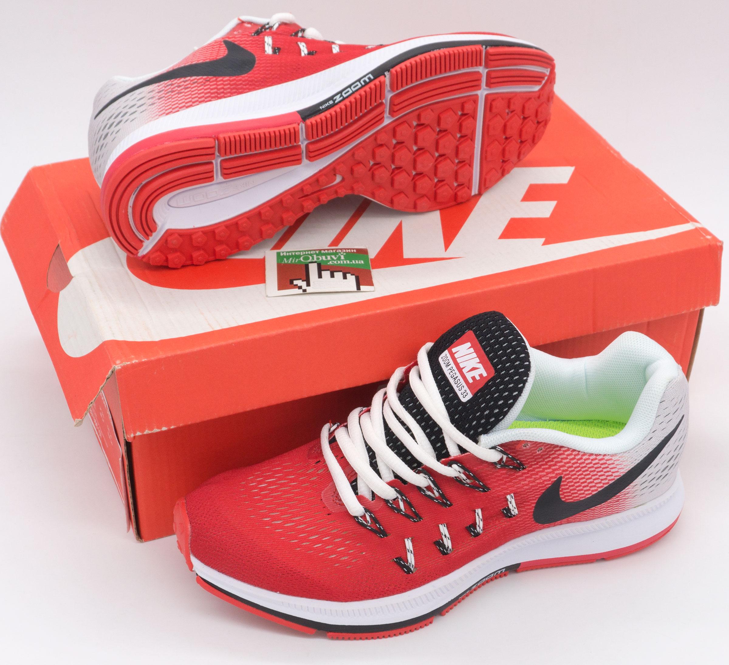 фото bottom Женские кроссовки для бега Nike Zoom Pegasus 33 красные. Топ качество! bottom
